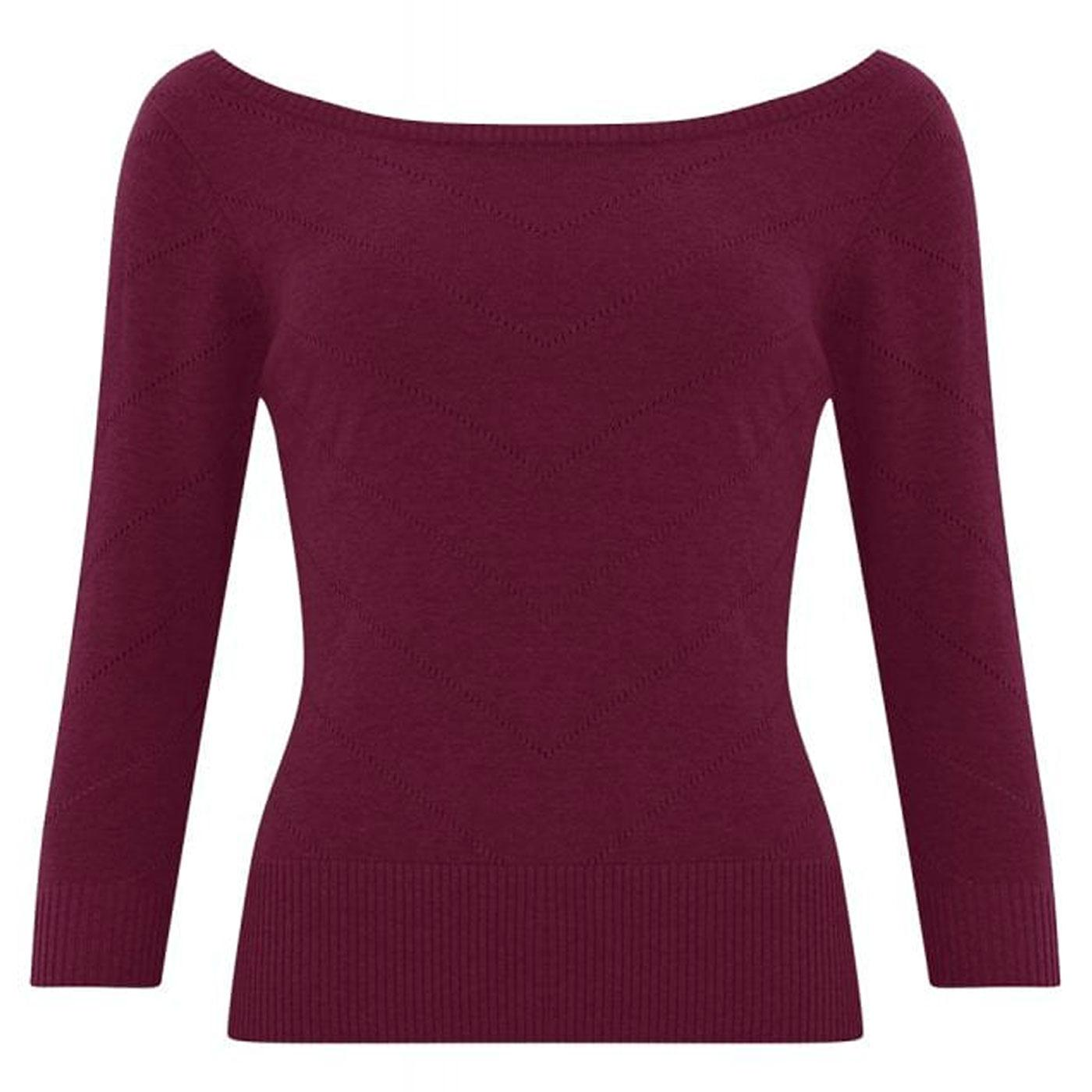 Bardot COLLECTIF Retro 50s Knitted Boatneck Top