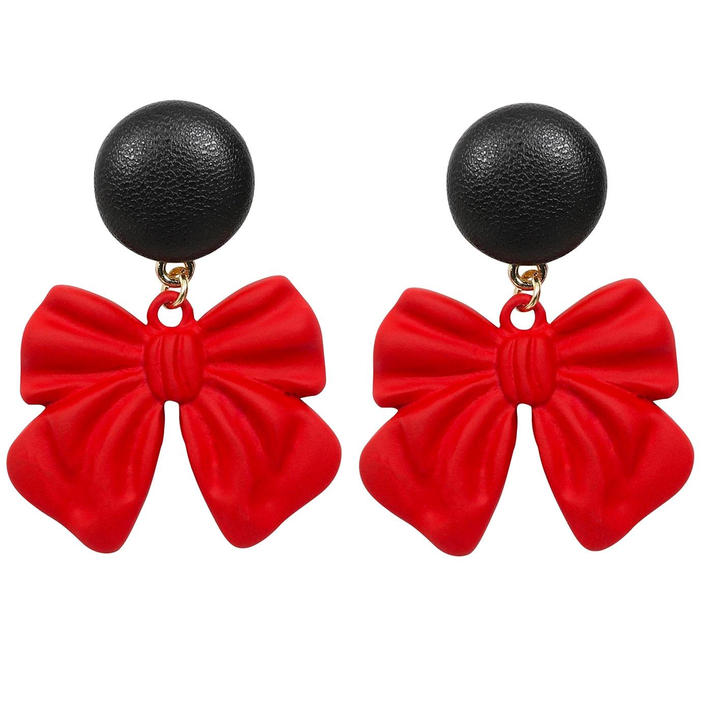 + Belle Bow COLLECTIF Retro 50s Festive Earrings