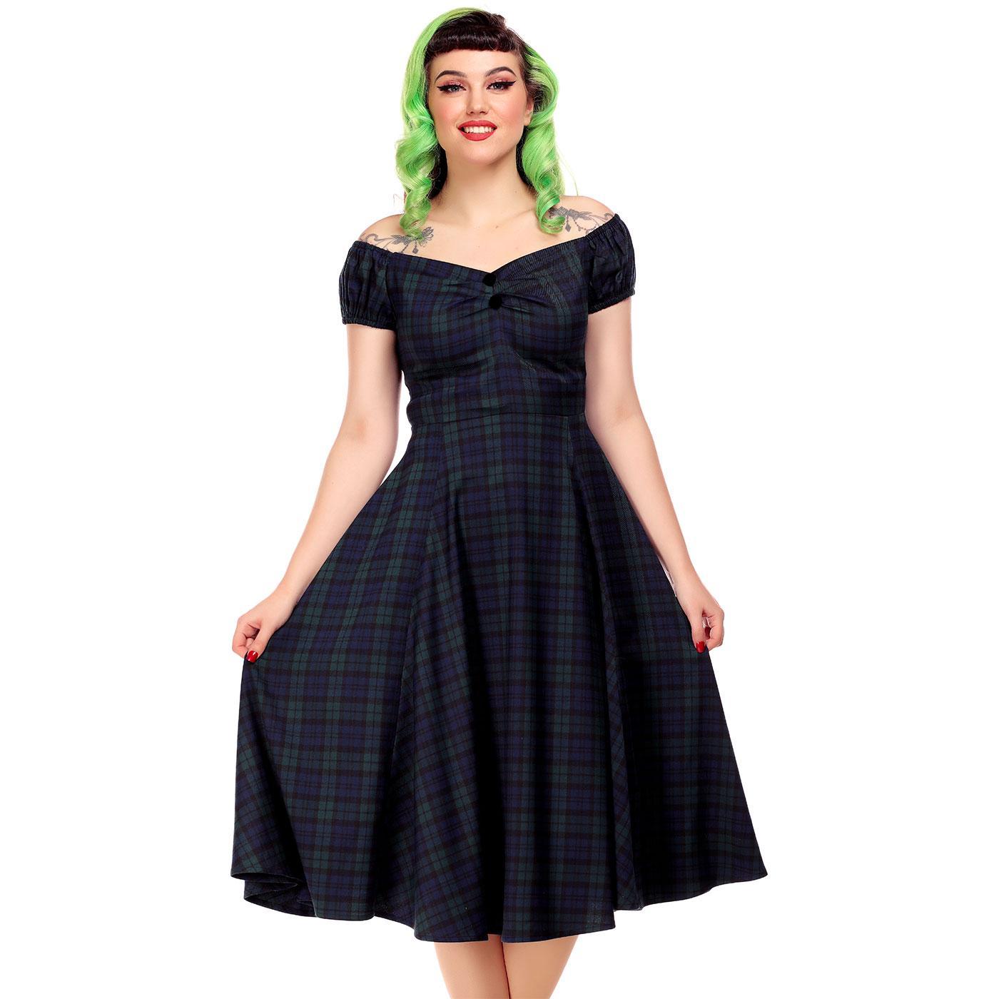 Dolores COLLECTIF Blackwatch Tartan Doll Dress