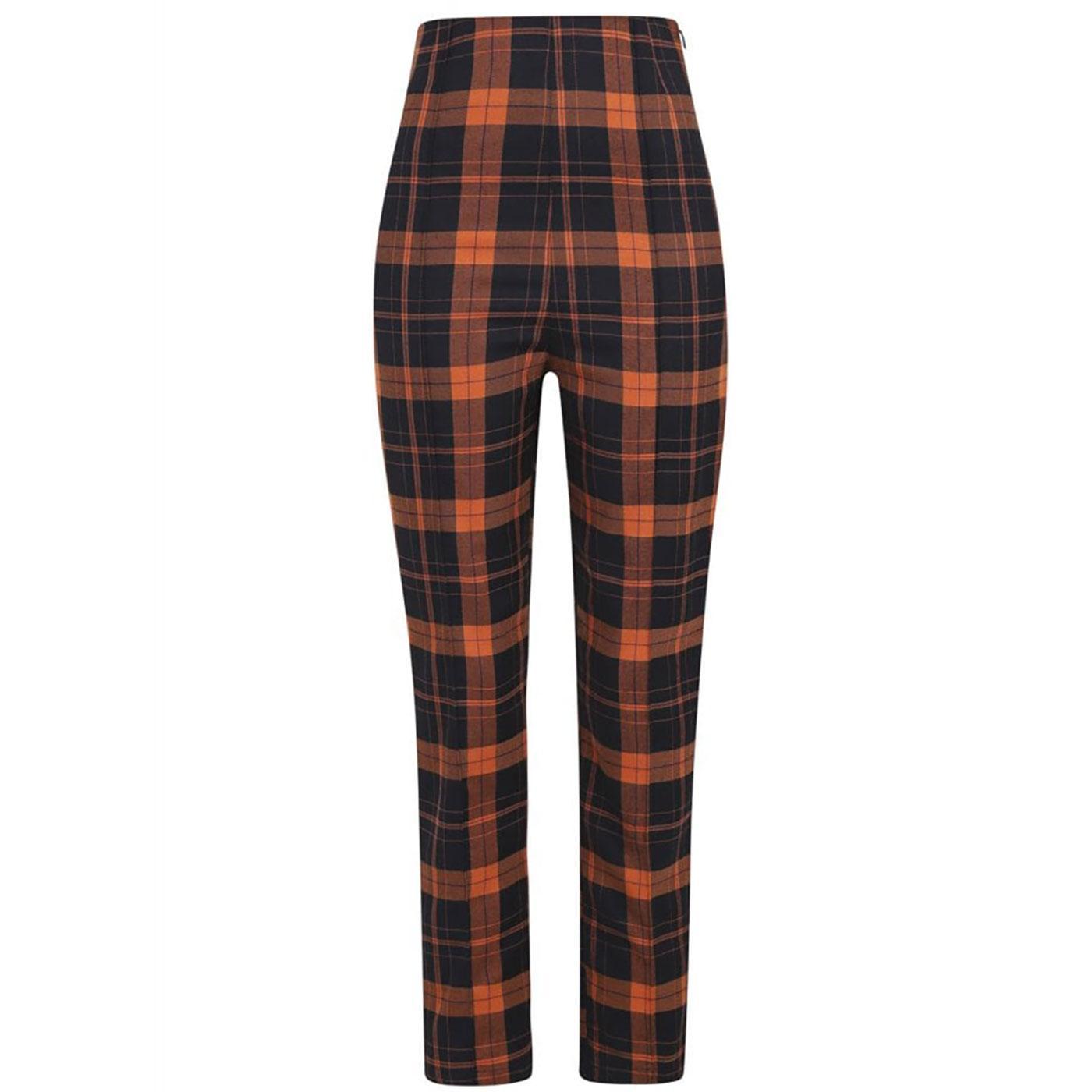 Bonnie COLLECTIF Pumpkin Check Cigarette Trousers