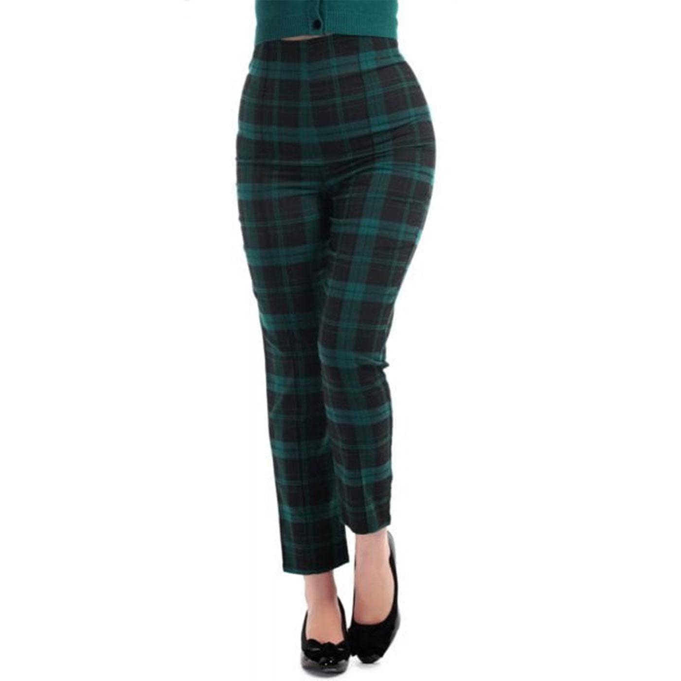 Bonnie COLLECTIF Tartan Check Cigarette Trousers