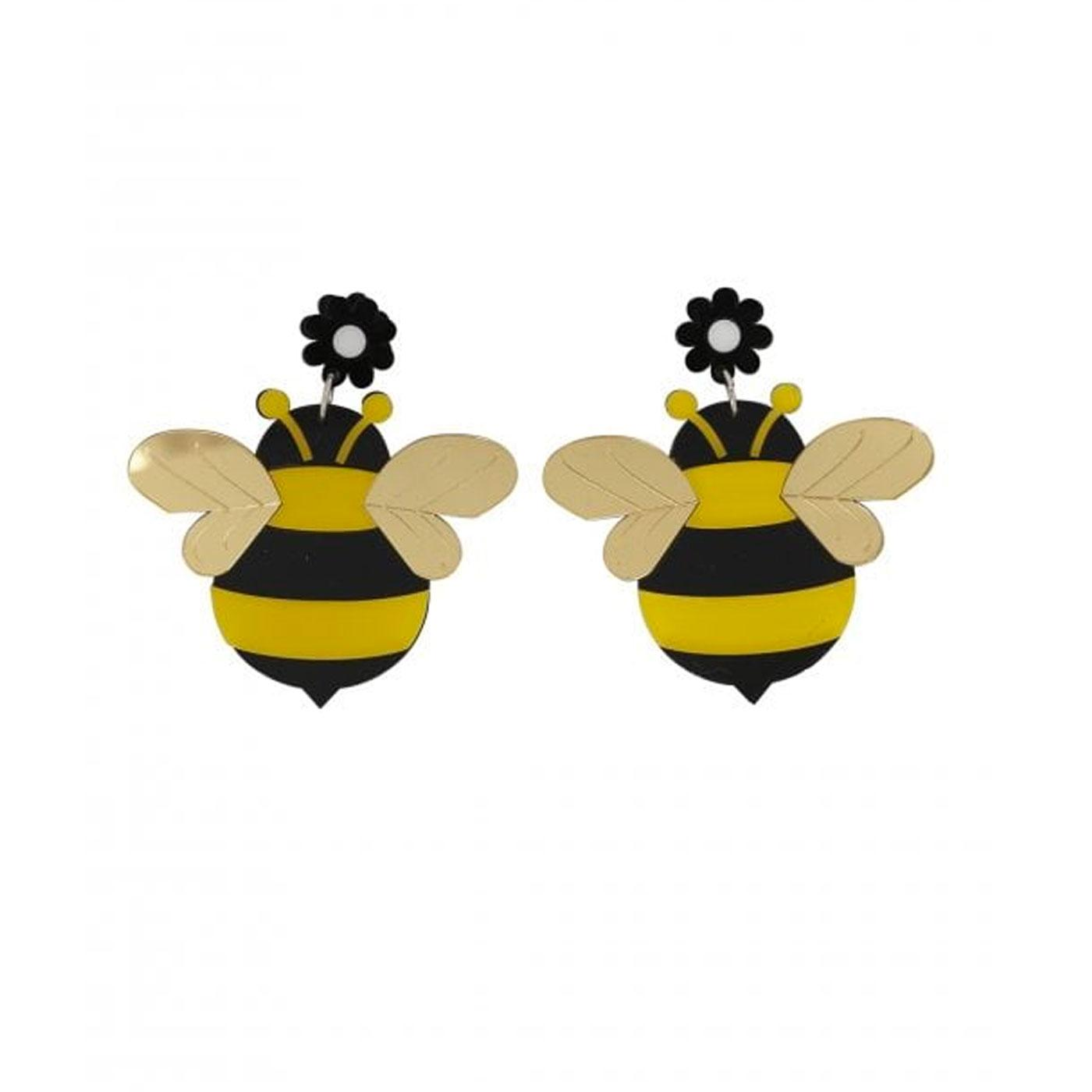 + Bumble Bee COLLECTIF Retro Stud Bee Earrings