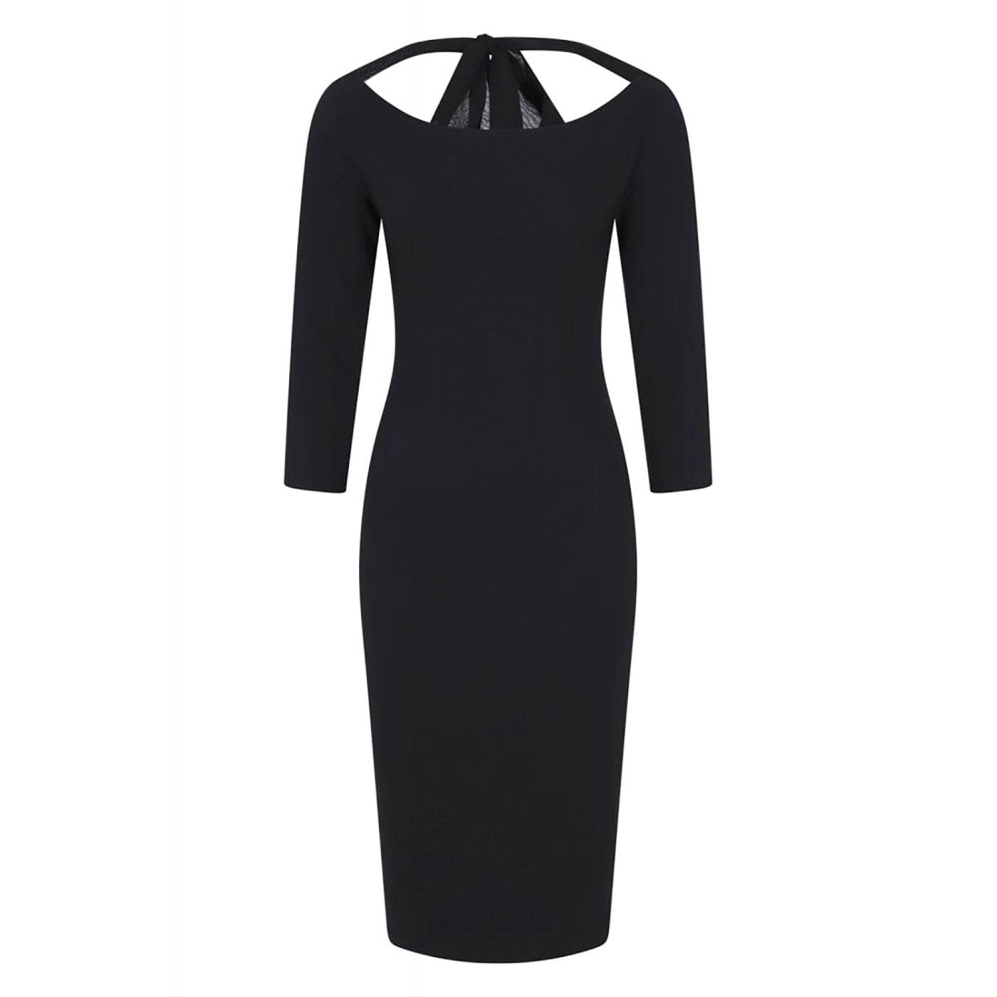 Calliope COLLECTIF Vintage Boat Neck Pencil Dress