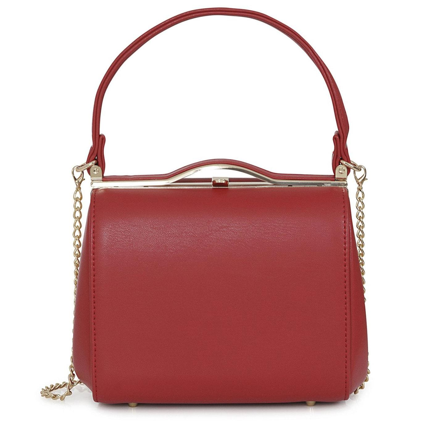 Carrie COLLECTIF 50s Vintage Style Handbag in Red
