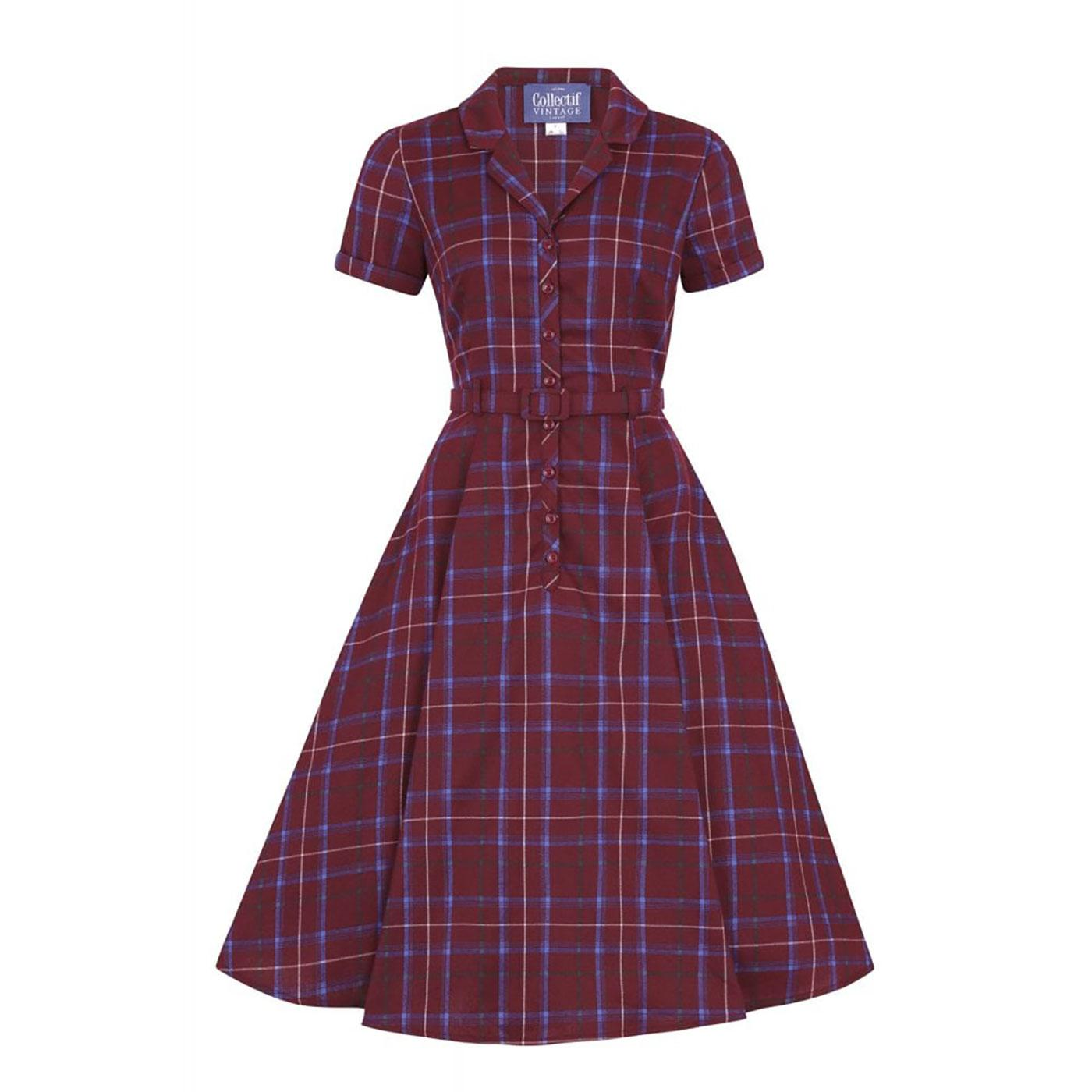 Caterina COLLECTIF 40's Vintage Check Swing Dress