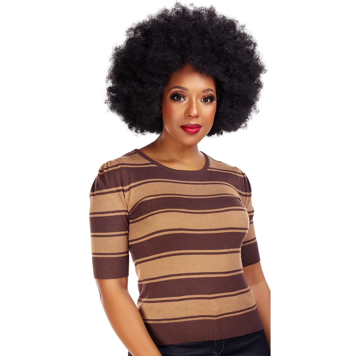 Chrissie COLLECTIF Cropped Beetle Stripe Jumper