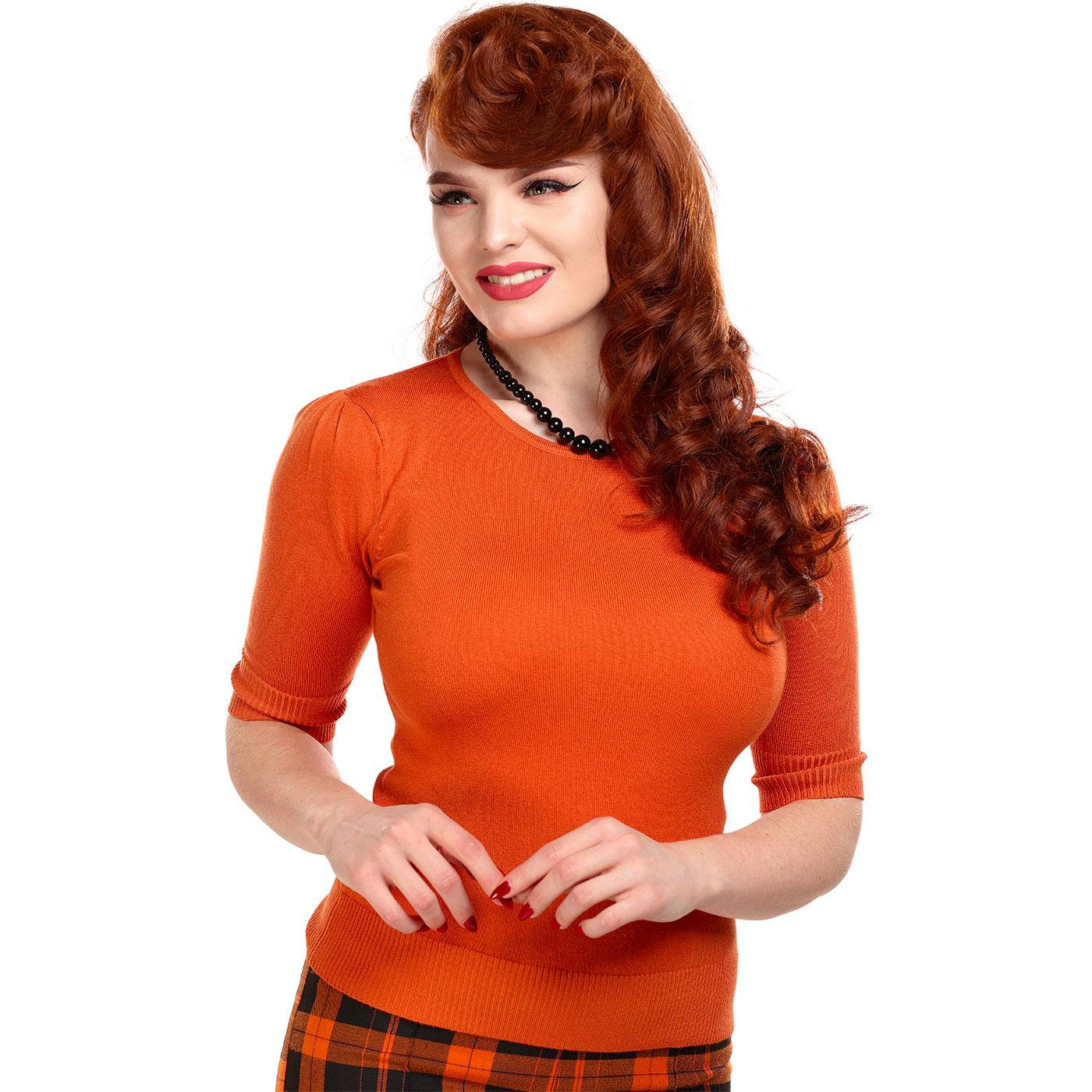 Chrissie COLLECTIF Vintage Plain Knitted Top O