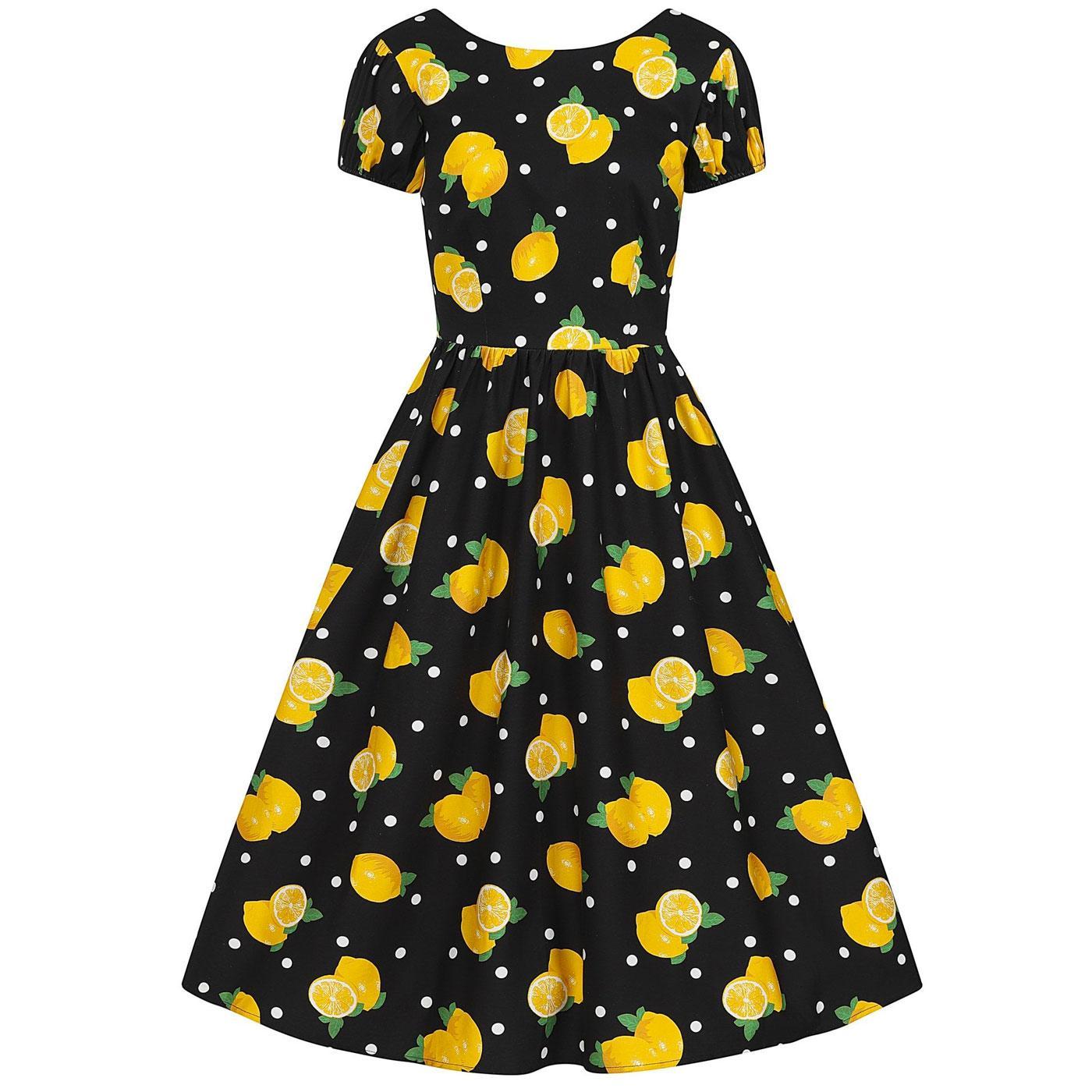 Demira COLLECTIF Retro 50s Lemon Print Swing Dress