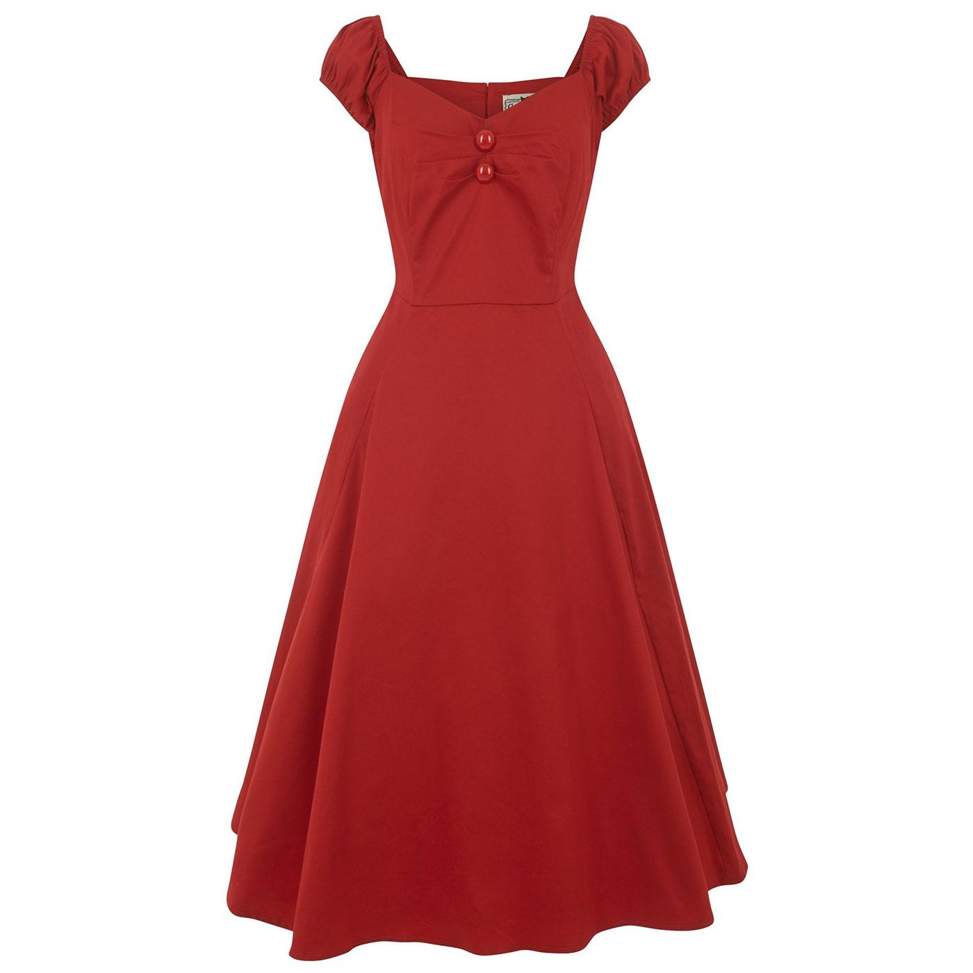 Dolores COLLECTIF Vintage 1950s Doll Dress (Red)