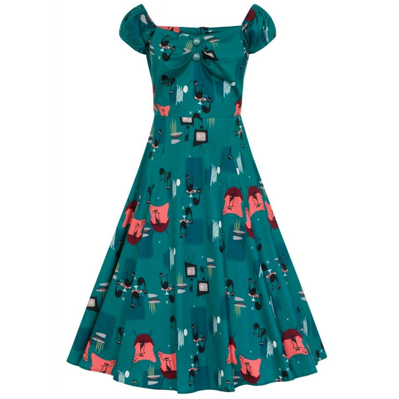 Dolores COLLECTIF Retro Atomic Cats Doll Dress