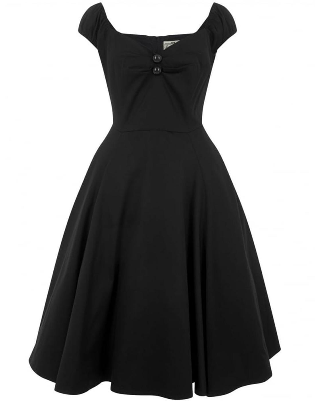 Dolores COLLECTIF Vintage 1950s Doll Dress (Black)