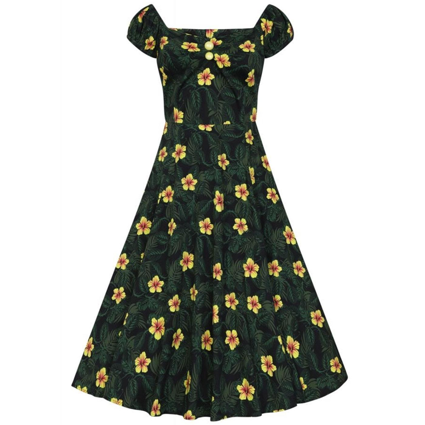 Dolores COLLECTIF Retro 50s Hibiscus Doll Dress