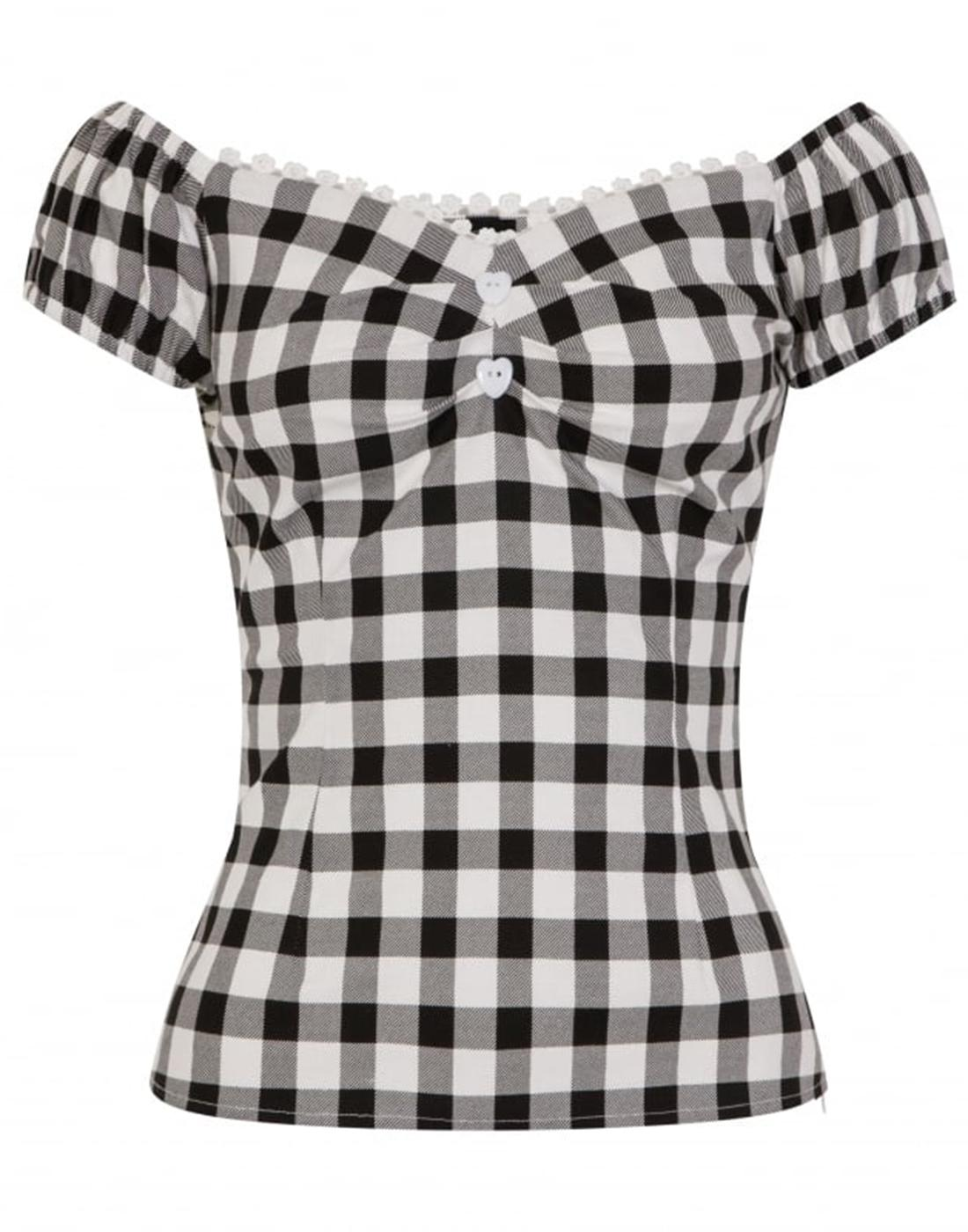 Dolores COLLECTIF Retro Vintage 50s Gingham Top