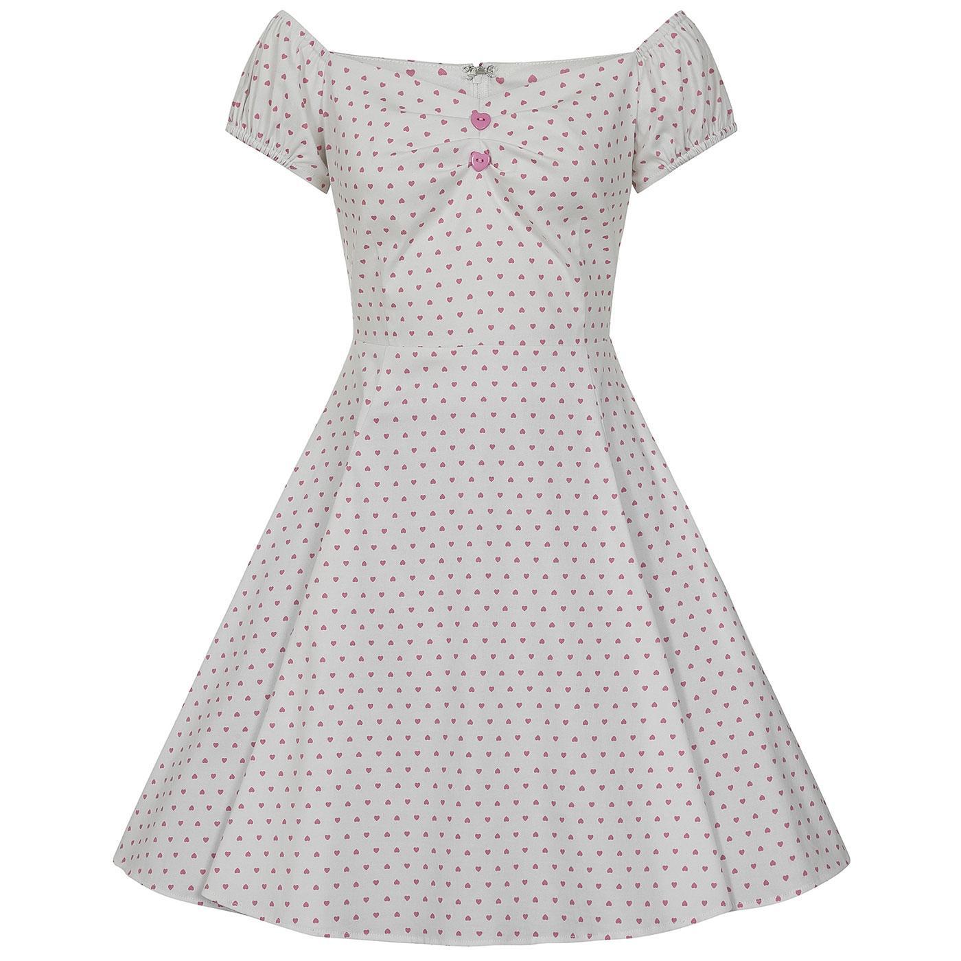 Mini Dolores COLLECTIF Love Heart Doll Dress (W)