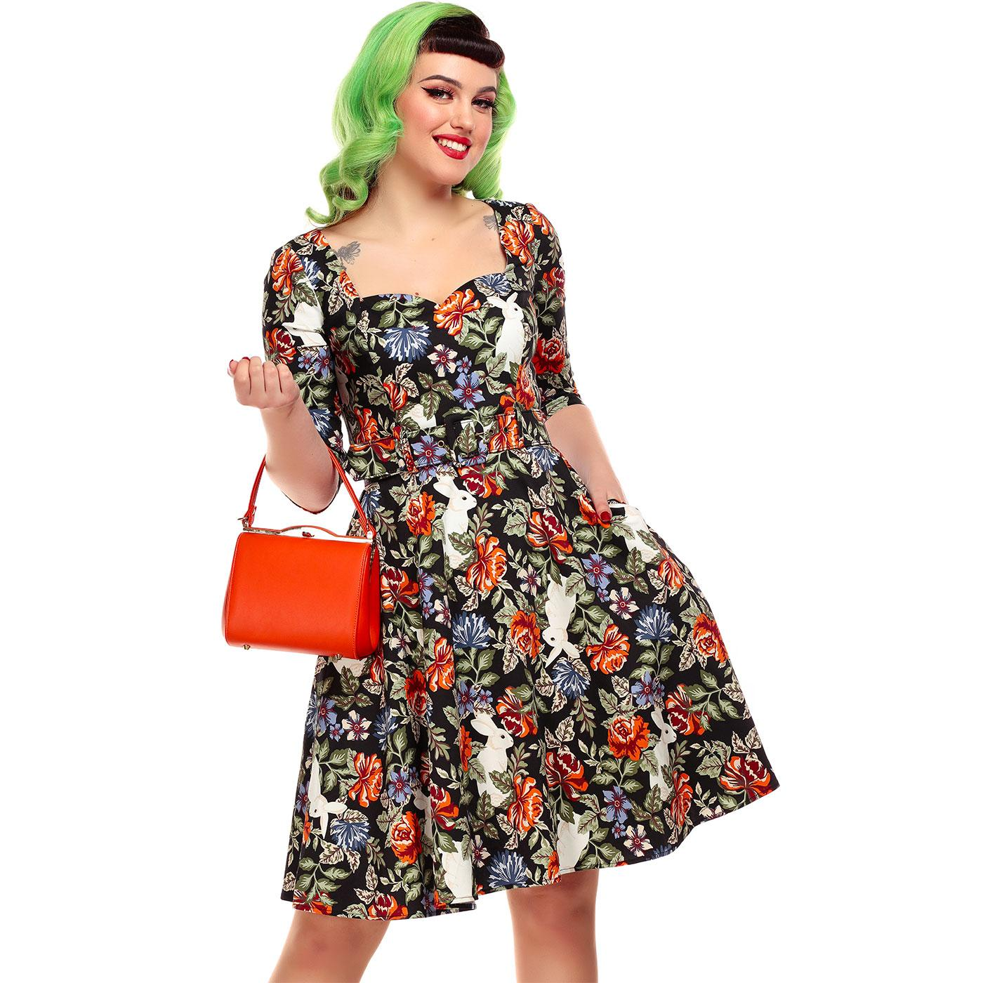 Eliana COLLECTIF Forest Floral Printed Swing Dress