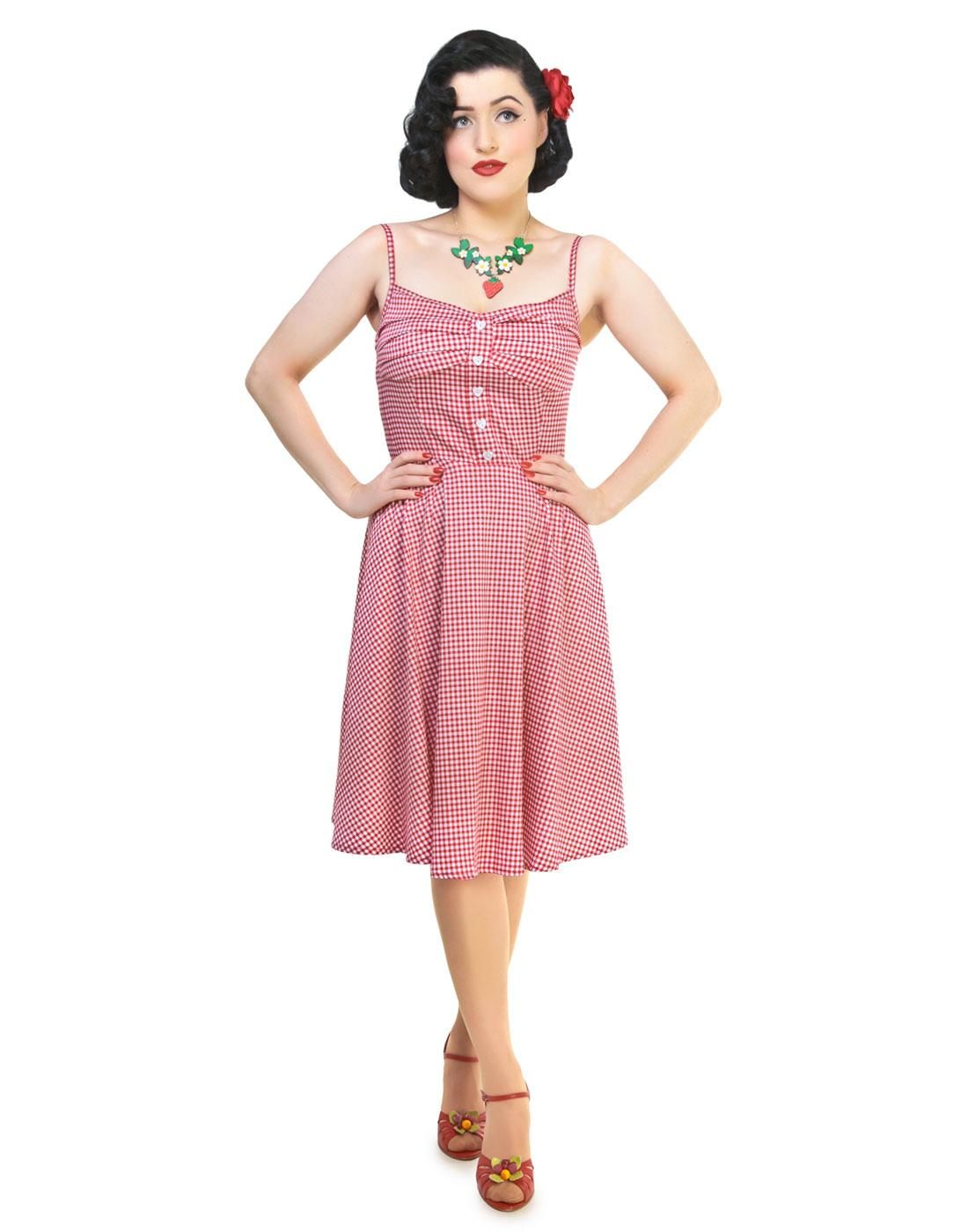 Fairy COLLECTIF Retro Vintage Gingham Swing Dress