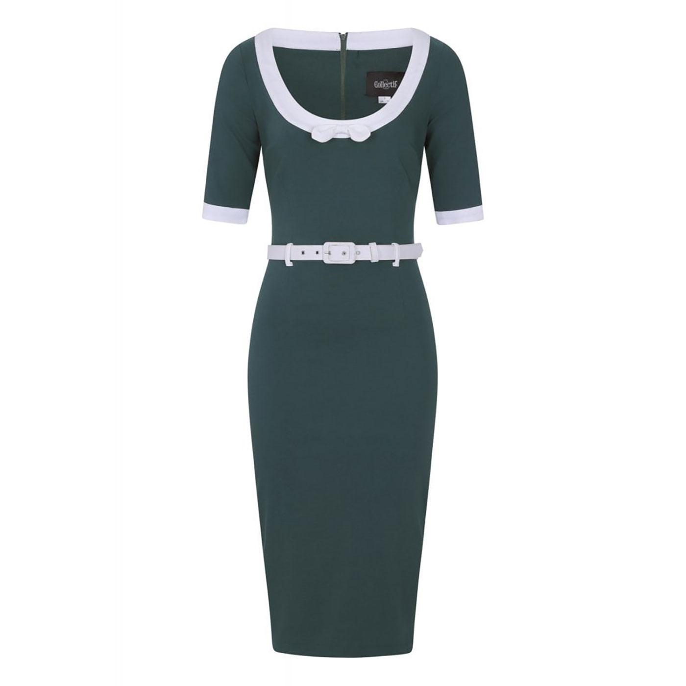 Freya COLLECTIF Vintage Wiggle Dress - Teal