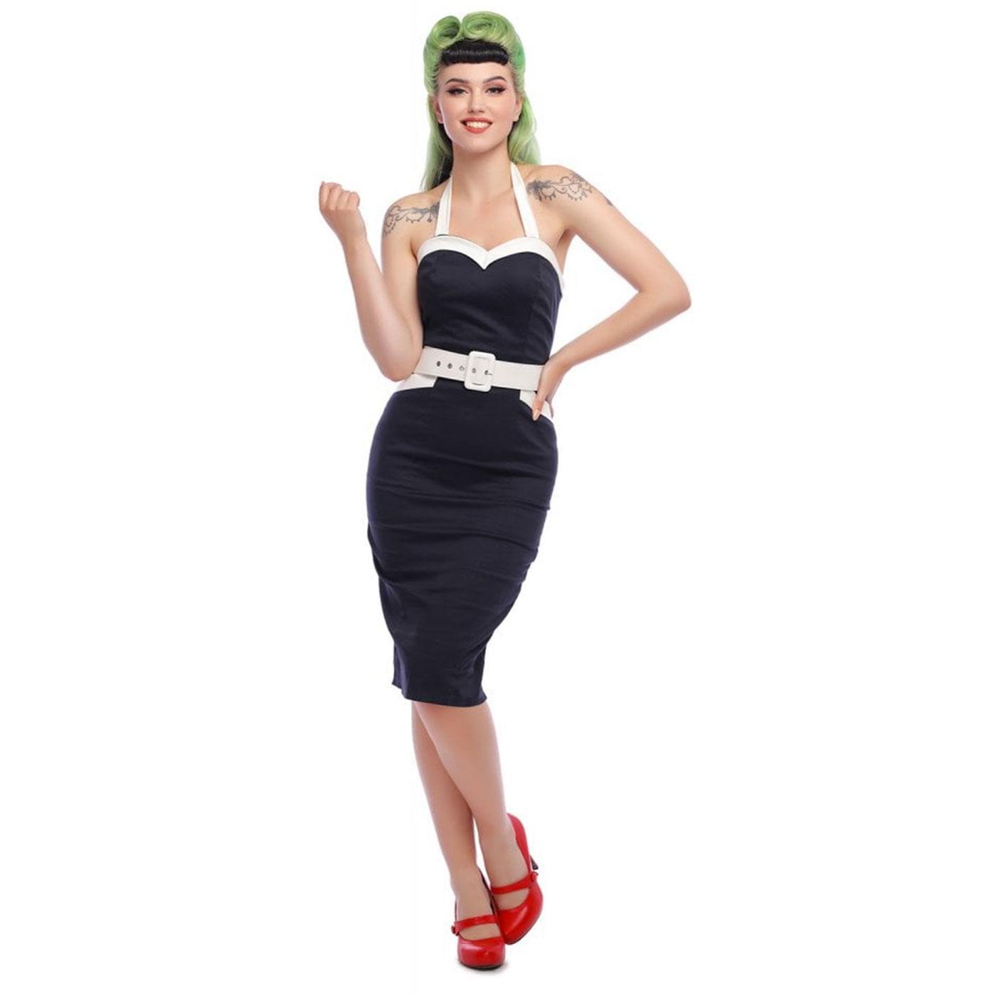 Georgie COLLECTIF Retro 50s Nautical Pencil Dress