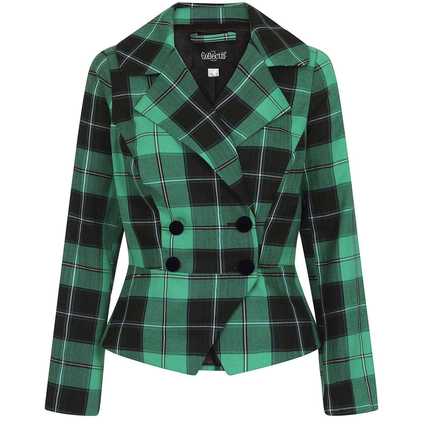 Halle COLLECTIF Retro Foliage Check Suit Jacket