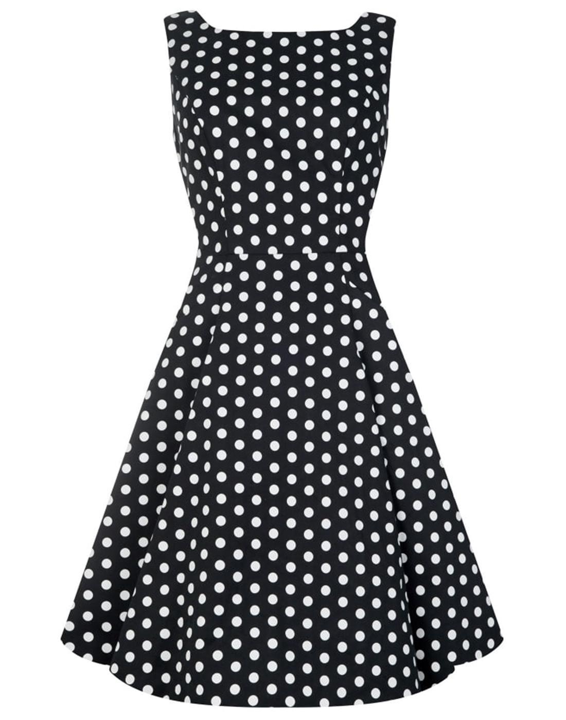 Hepburn COLLECTIF Retro 50s Polka Dot Summer Dress