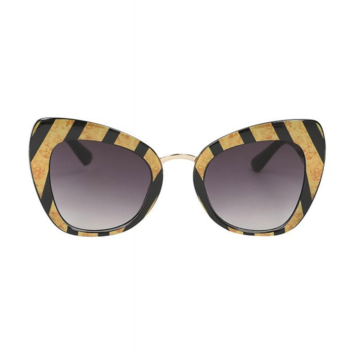 Jackie COLLECTIF Stripe Vintage Cat-Eye Sunglasses