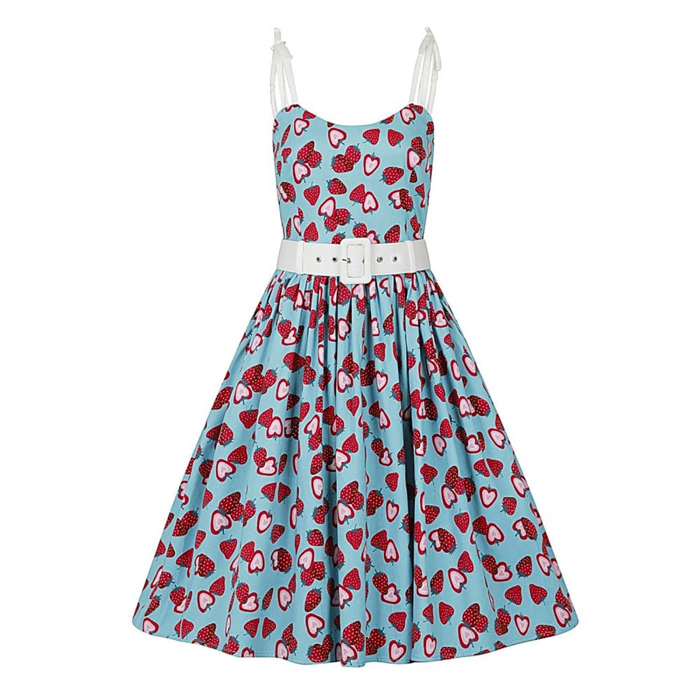 Jade COLLECTIF Vintage 50s Strawberry Swing Dress