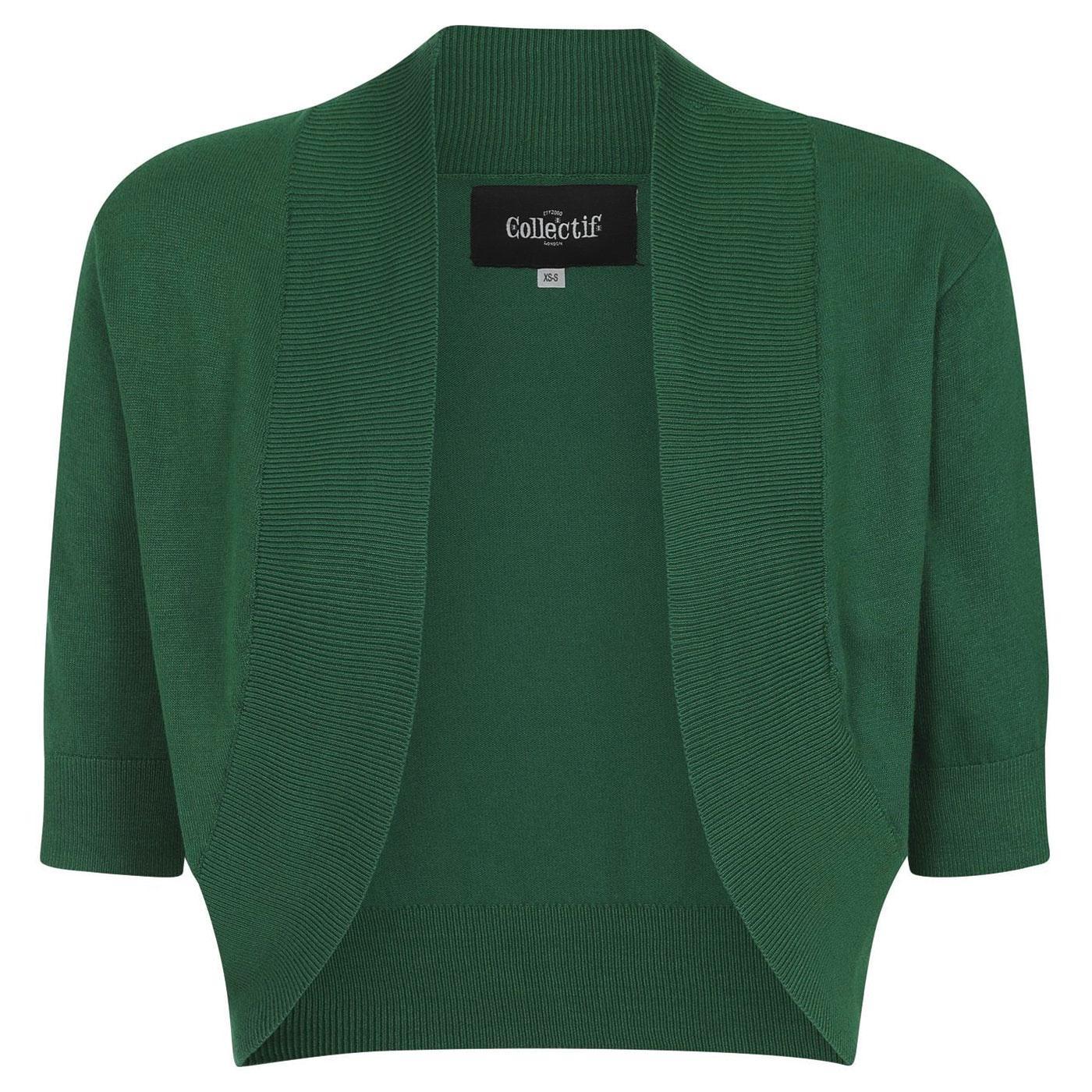 Jeanie COLLECTIF Retro Vintage Knitted Bolero G