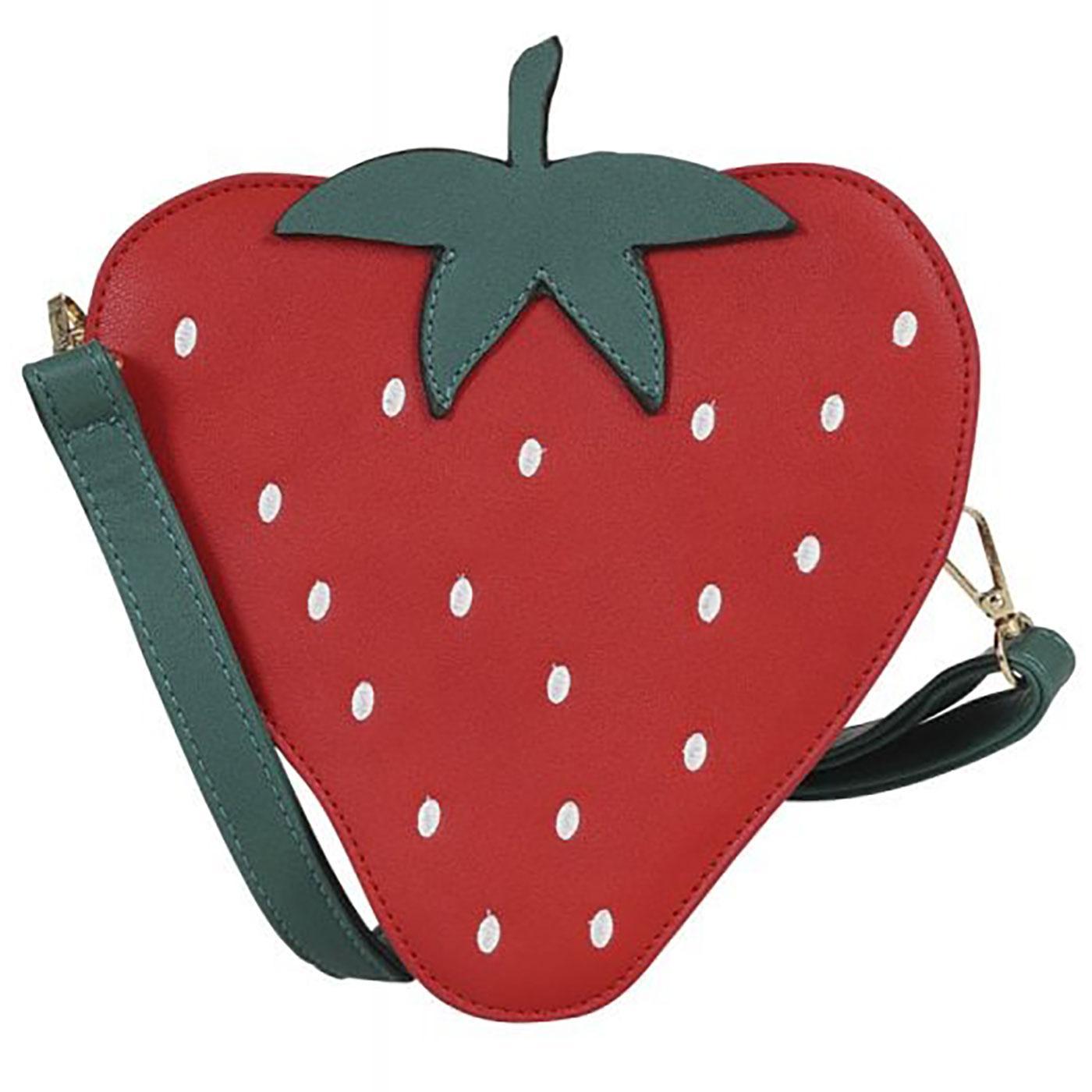 Juicy Strawberry COLLECTIF Summer Berry Handbag