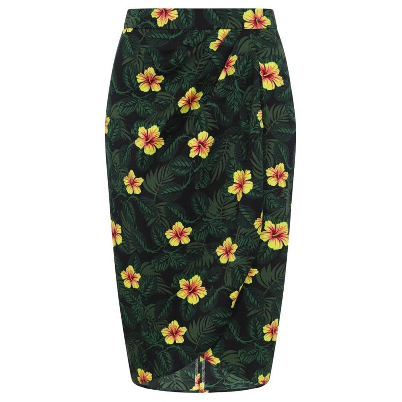 Kala COLLECTIF Tropical Hibiscus Sarong Skirt