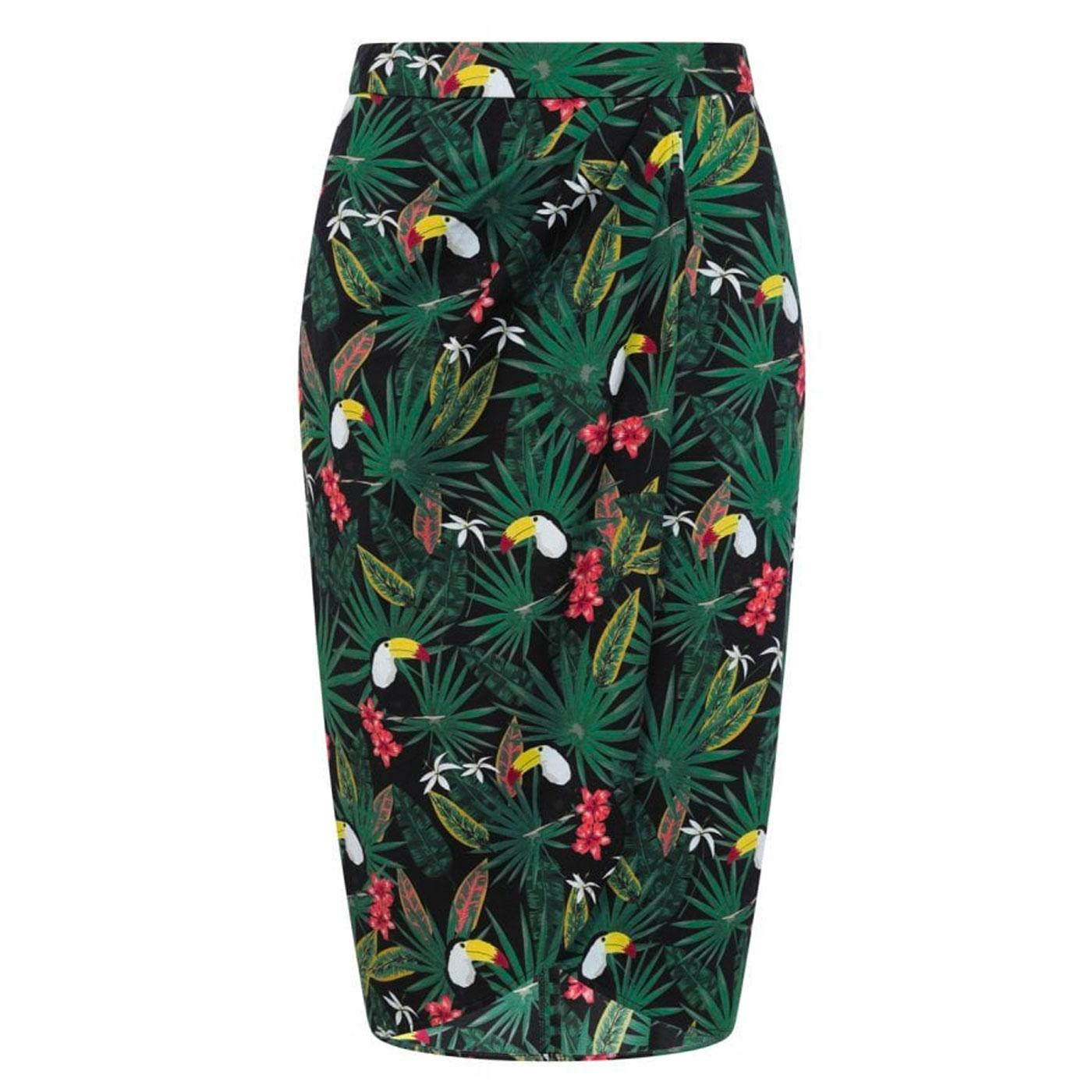 Kala COLLECTIF Vintage Tropical Print Sarong Skirt