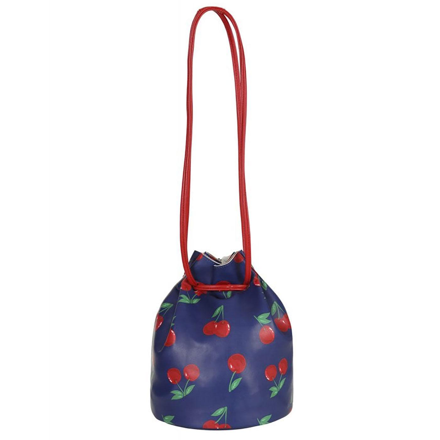 Kathy COLLECTIF Vintage Cherries Round Handbag