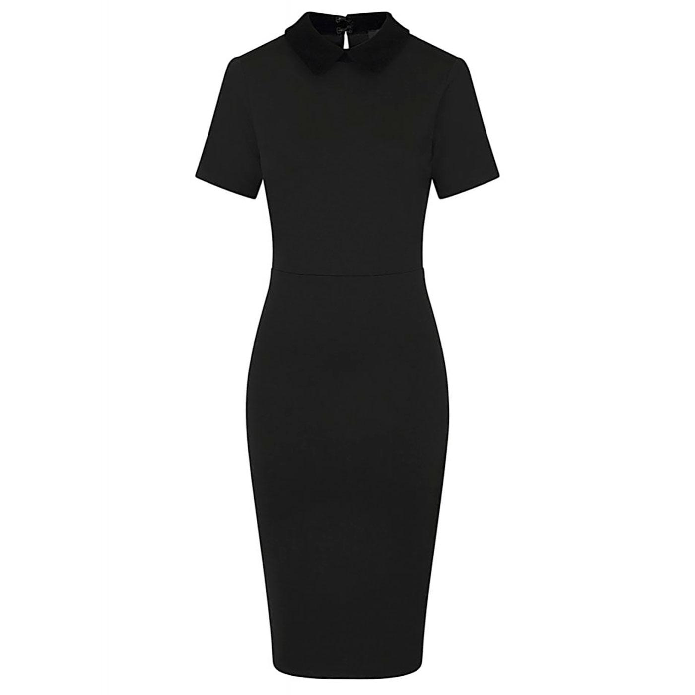 Katy COLLECTIF Peter Pan Collar 50s Pencil Dress