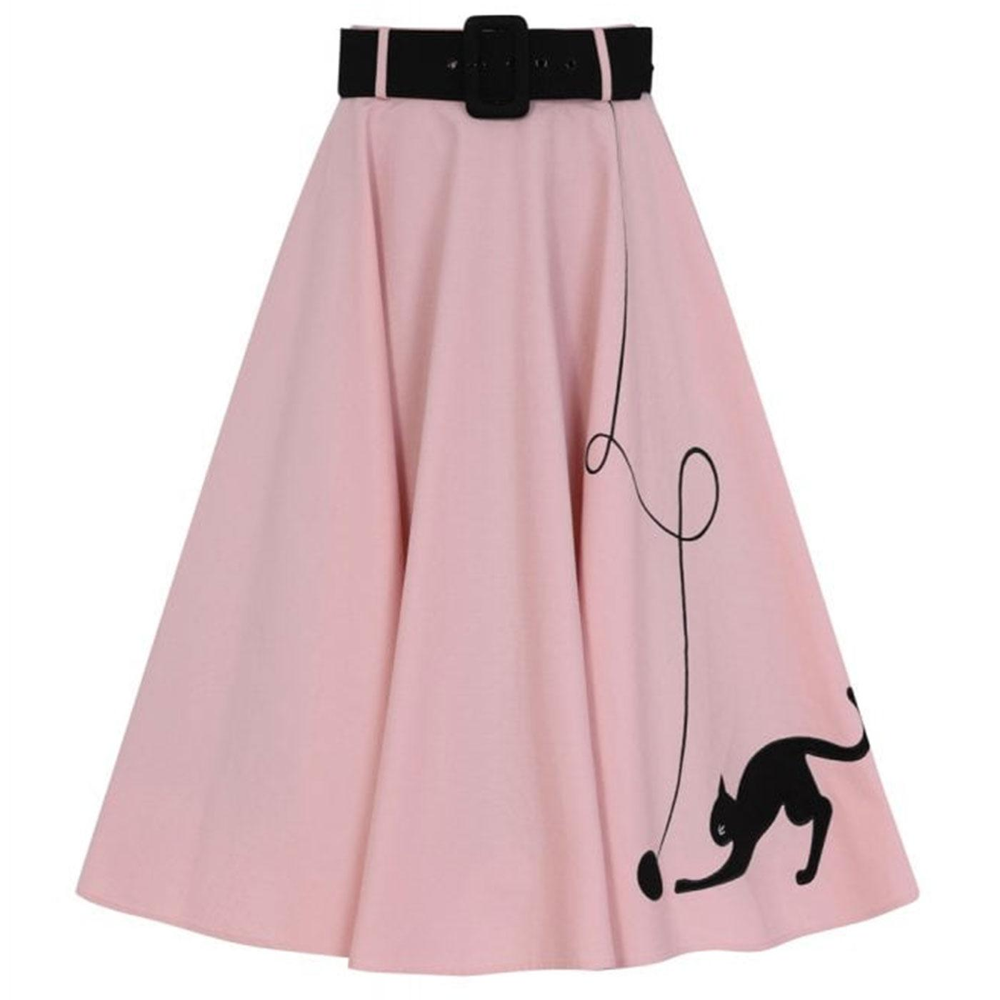 Kitty Cat COLLECTIF Retro 50s Vintage Swing Skirt