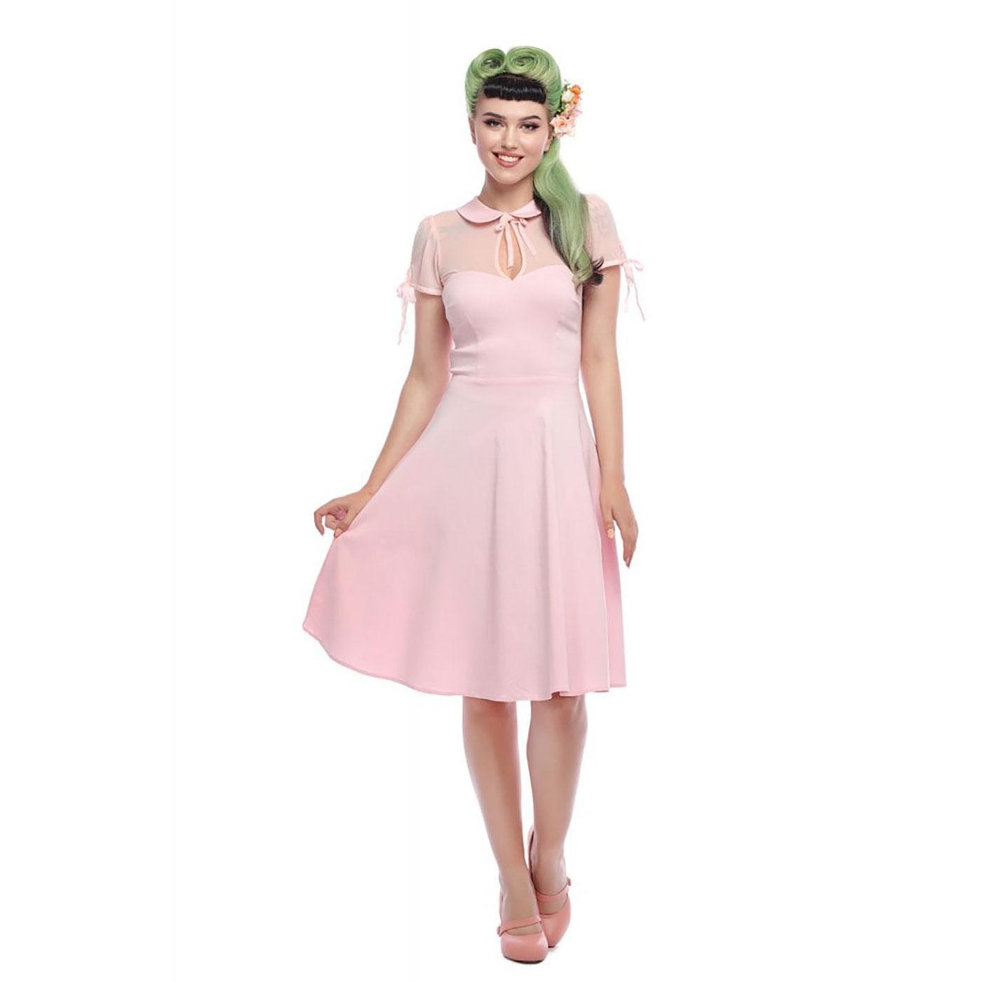 Kitten COLLECTIF Vintage Summer Swing Dress PINK