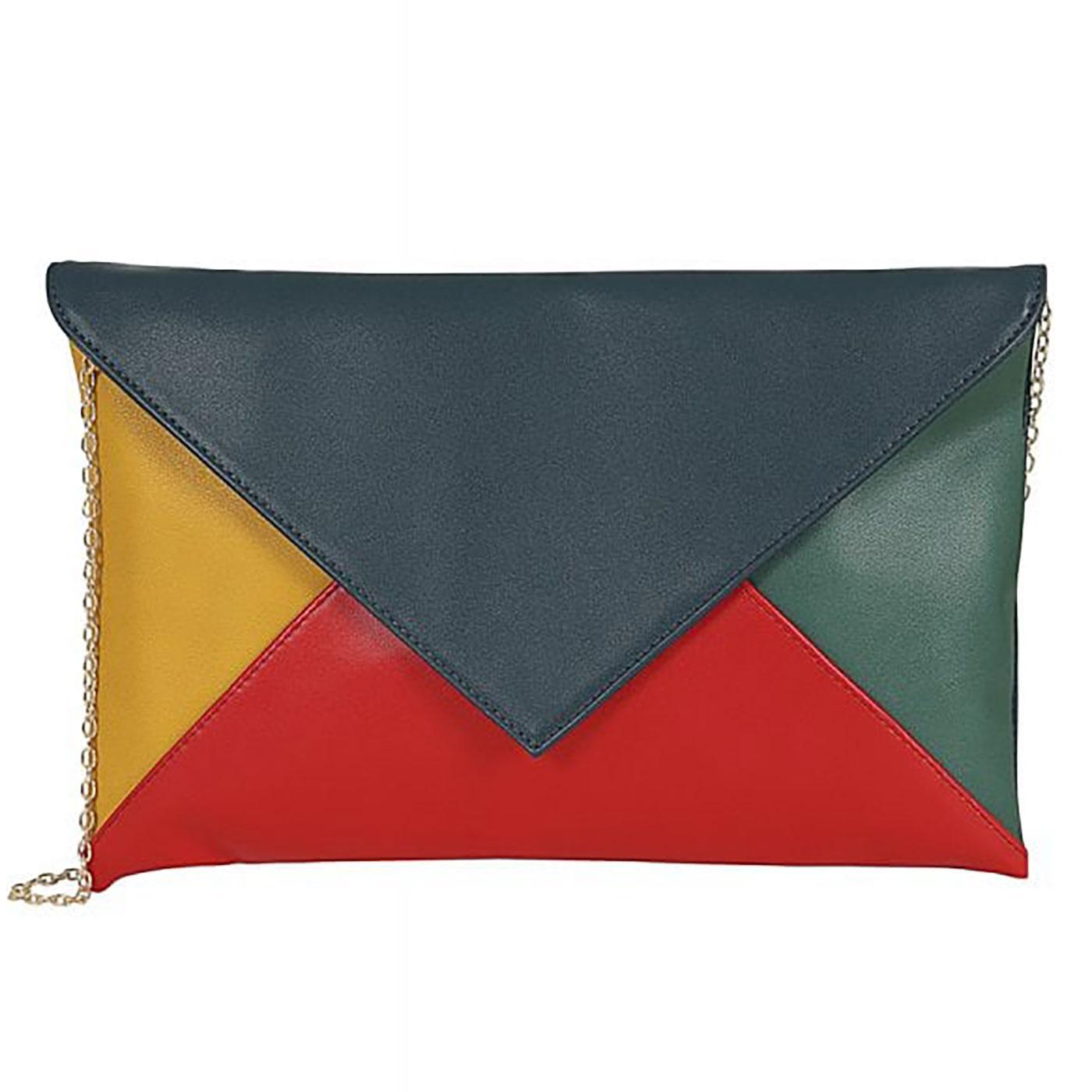 Lesly COLLECTIF Summer Colour Block Clutch Bag