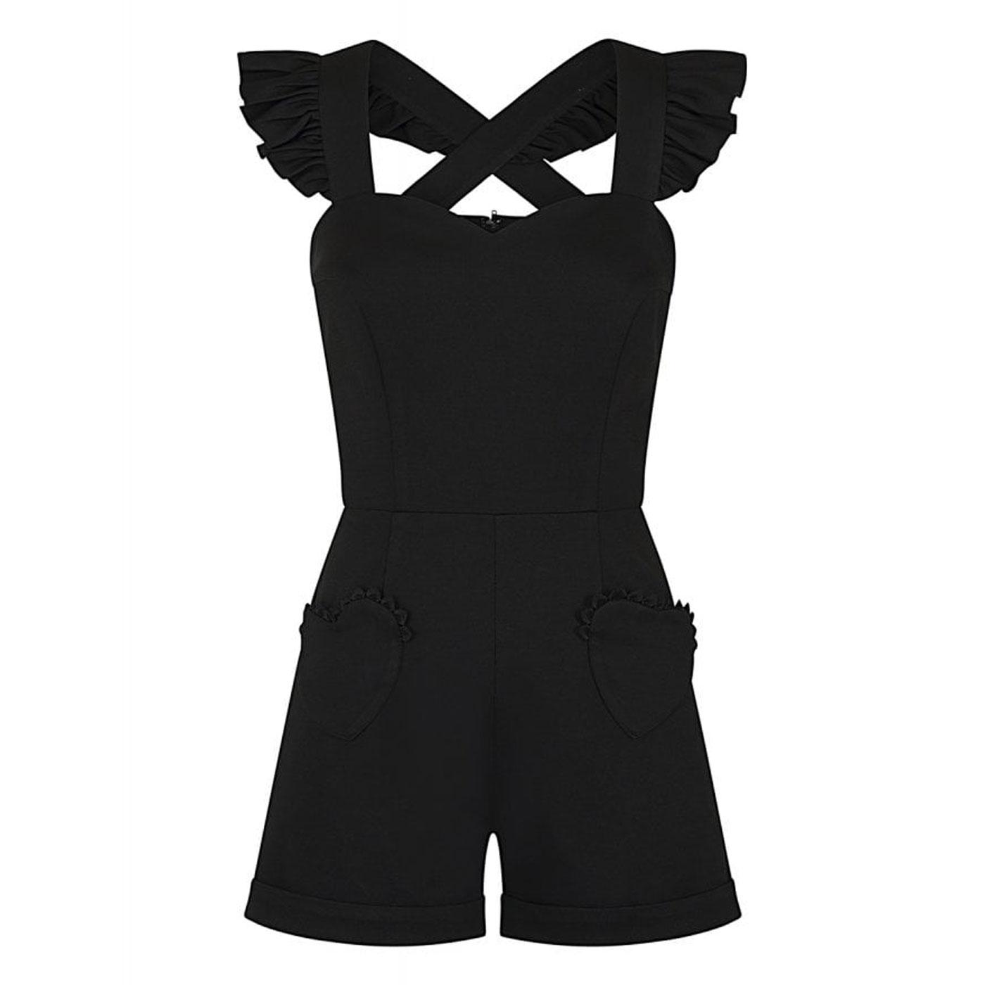 Lisa COLLECTIF Vintage 50s Summer Black Playsuit