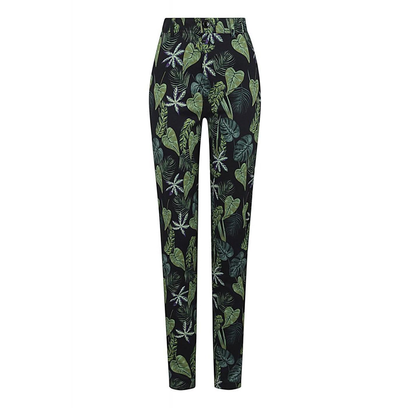 Maddie COLLECTIF Black Forest Vintage Trousers