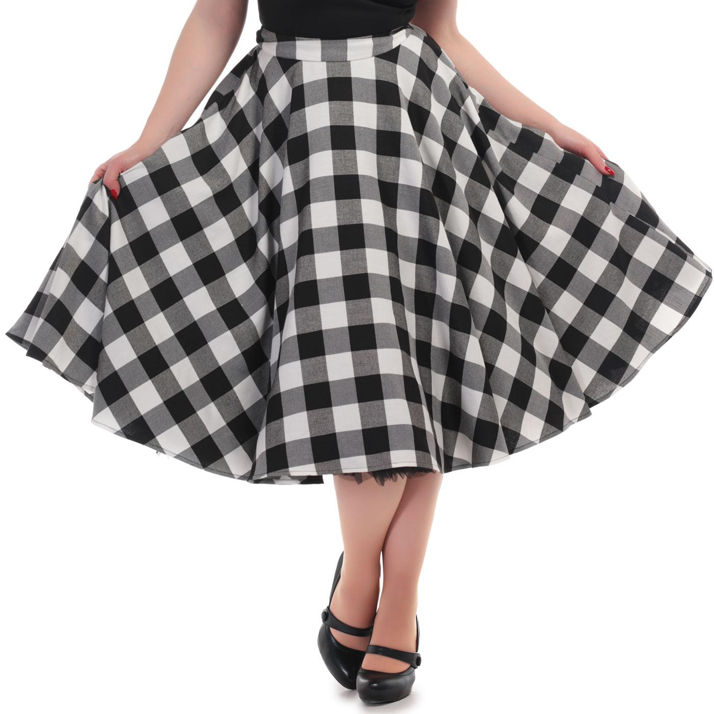 Milla COLLECTIF Retro 50s Gingham Swing Skirt