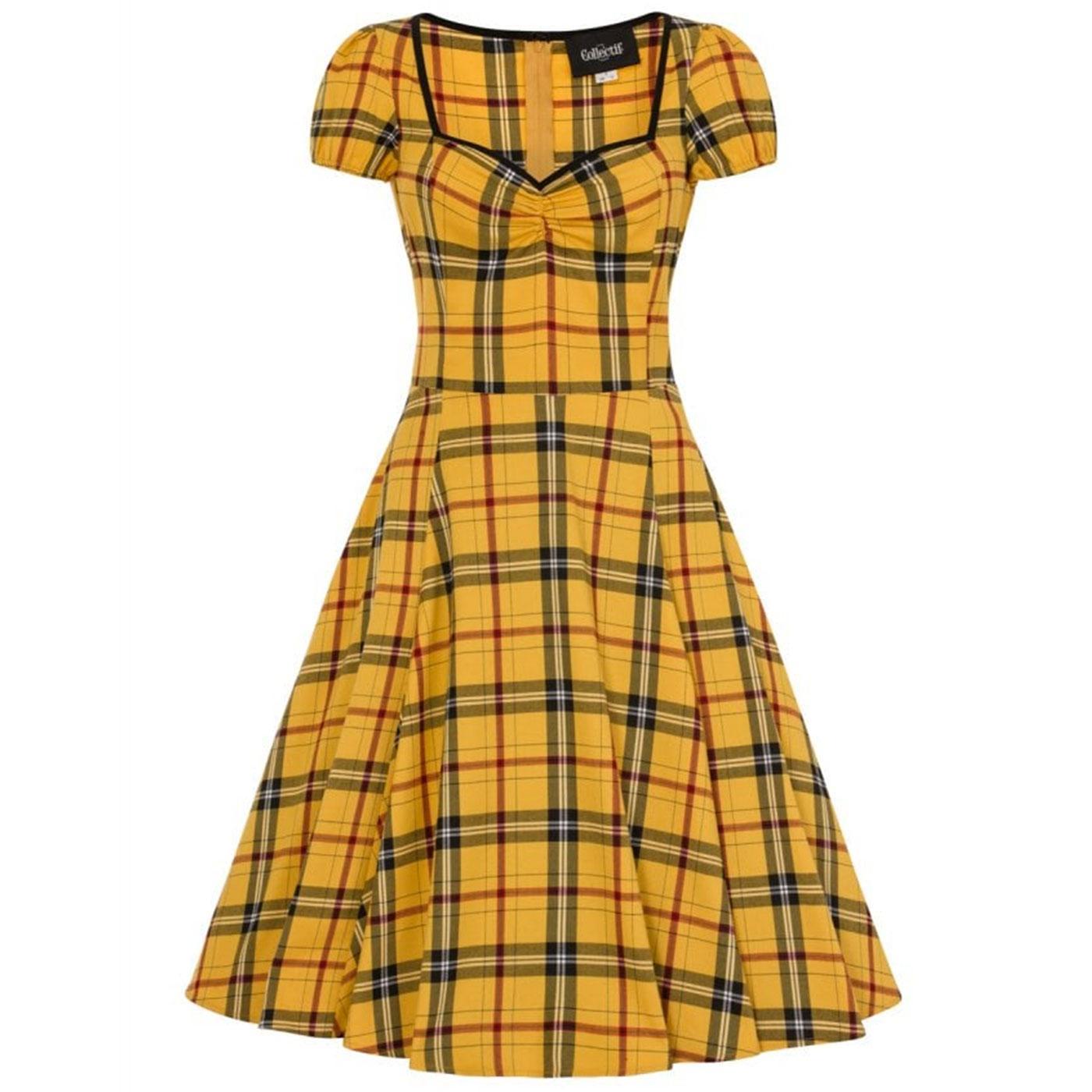 Mimi COLLECTIF Retro 50s Clueless Check Doll Dress