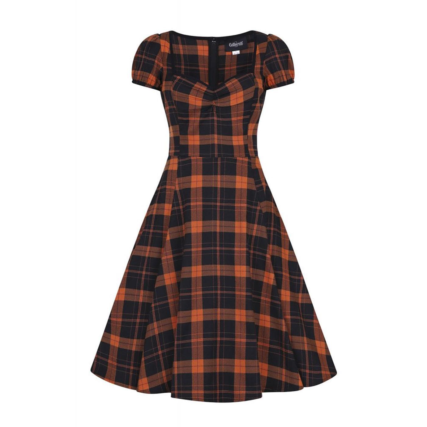 Mimi COLLECTIF Pumpkin Check Doll Dress