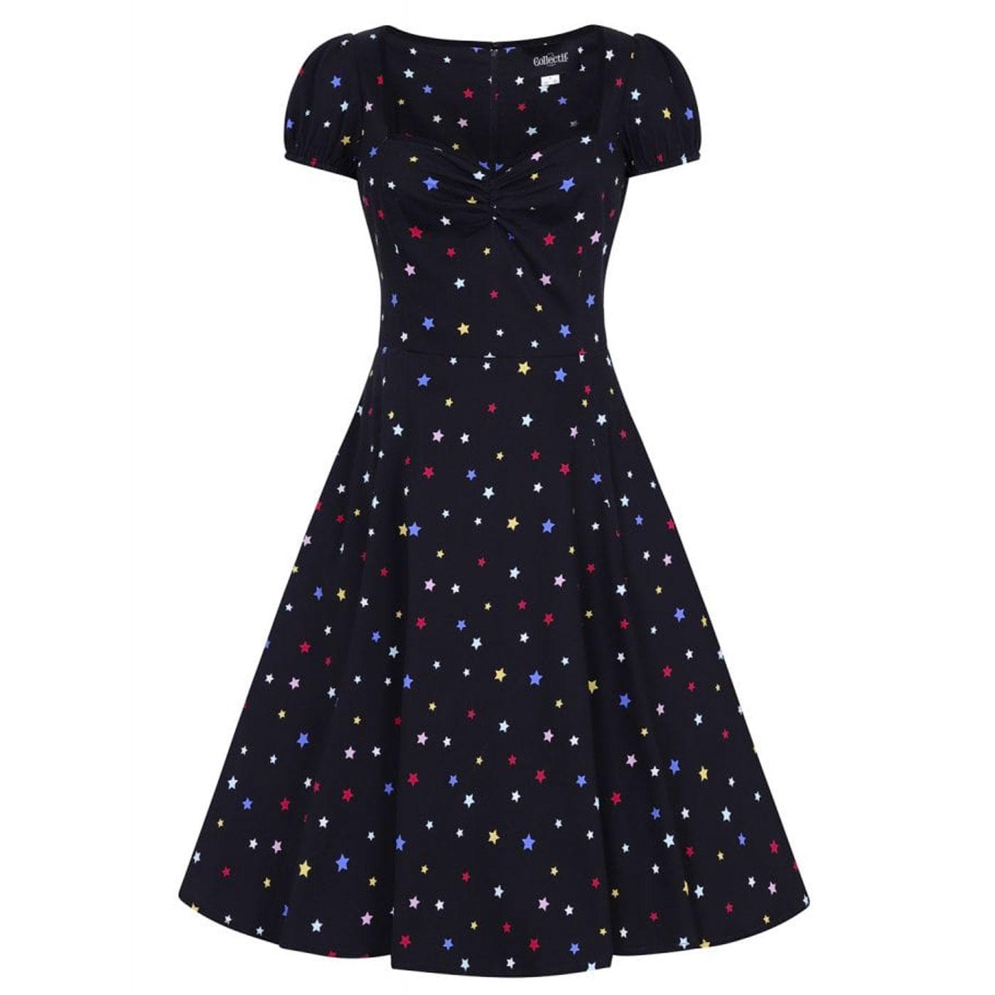 Mimi COLLECTIF Vintage 50s Rainbow Star Doll Dress