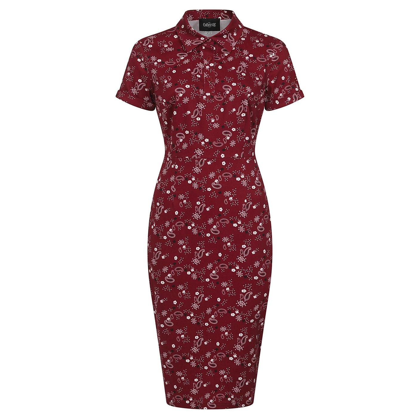 Mirtilla COLLECTIF Bandana Polo Pencil Dress B