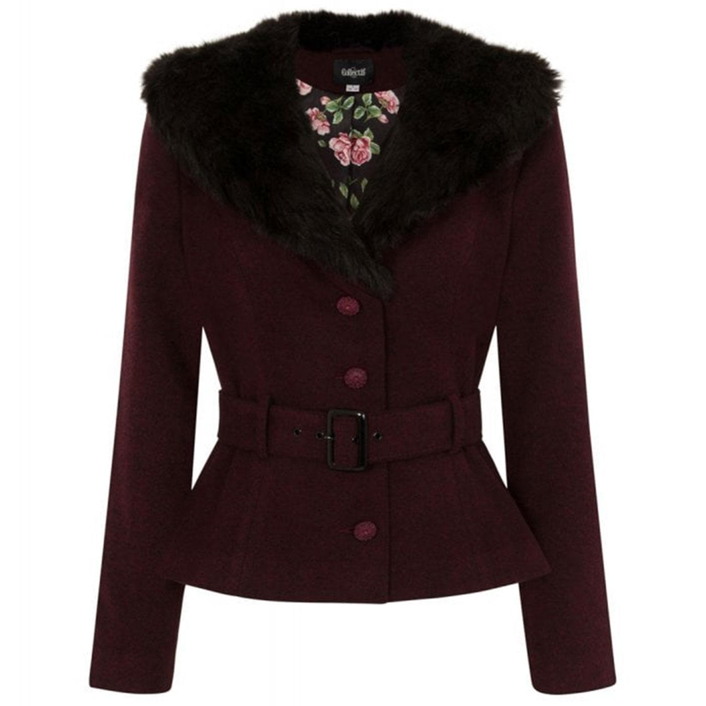 Molly COLLECTIF Vintage Faux Fur Collar Jacket W