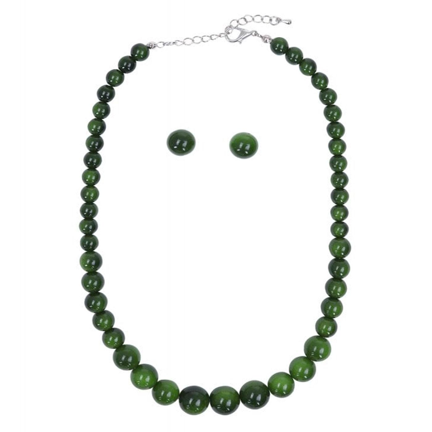 + Natalie COLLECTIF Retro Bead Necklace & Earrings