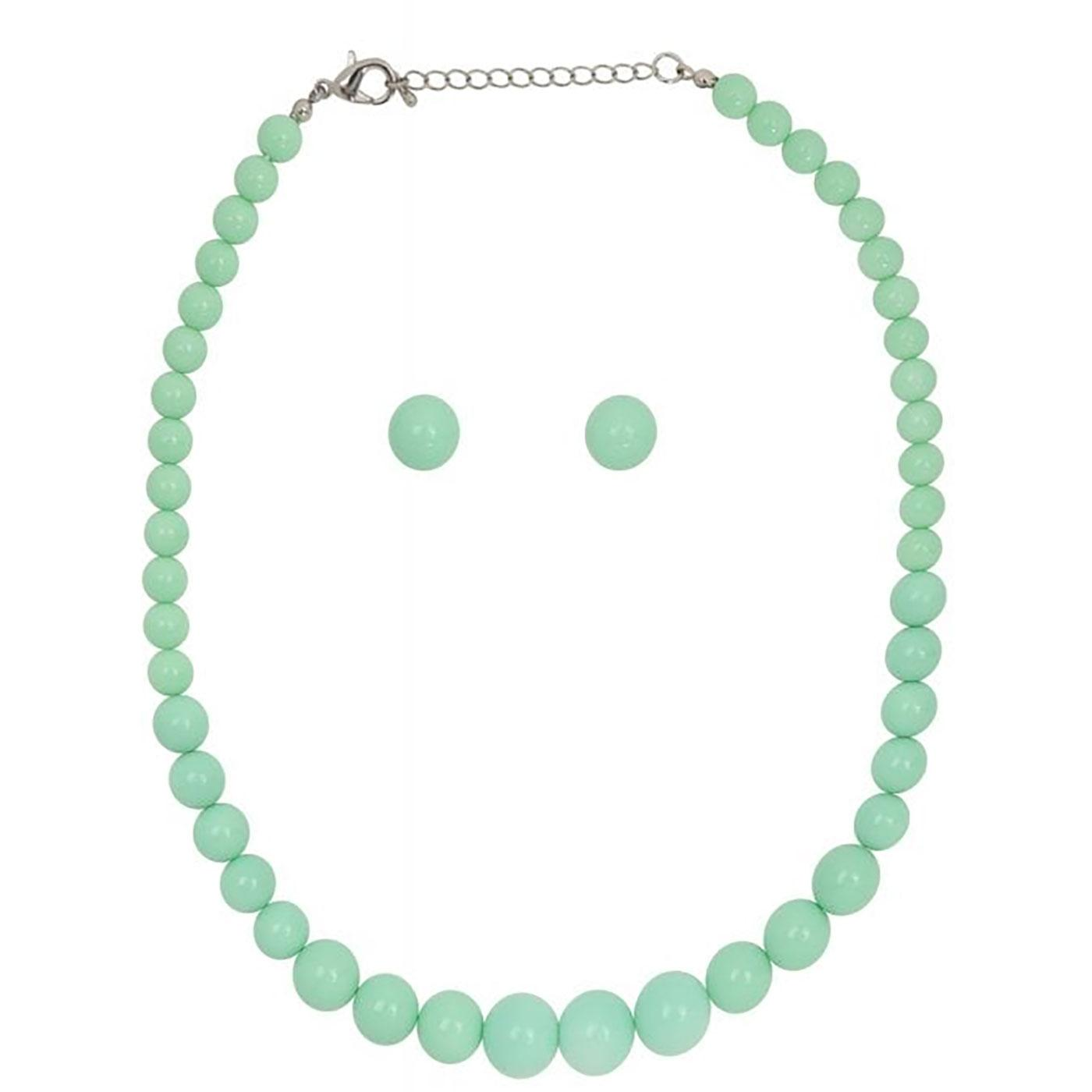 + Natalie COLLECTIF 60s Bead Necklace & Earrings M