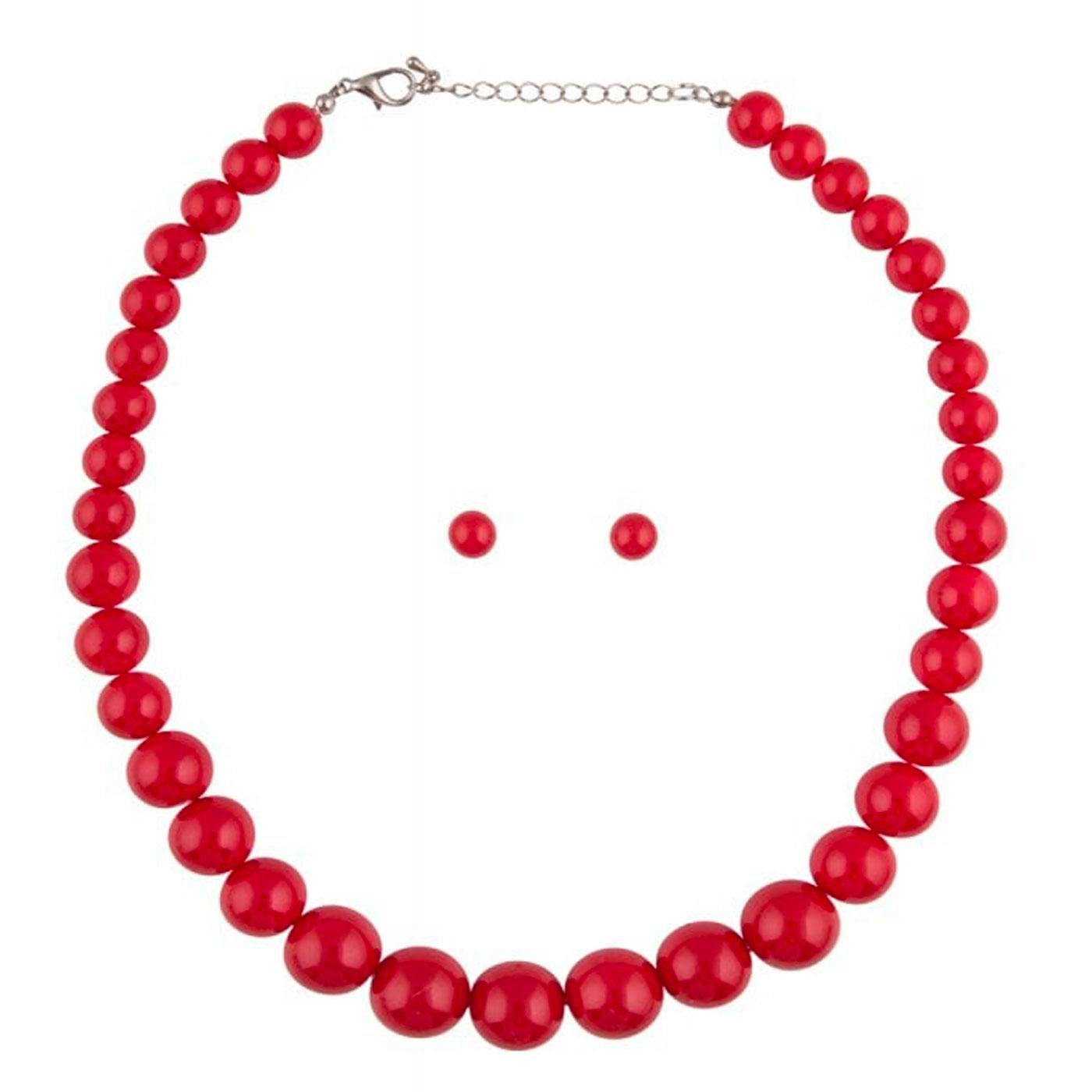 + Natalie COLLECTIF 60s Bead Necklace & Earrings R