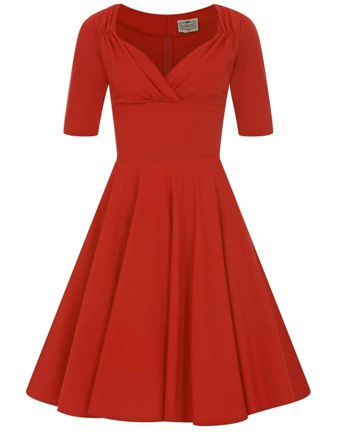 Trixie Doll COLLECTIF Retro 50s Vintage Dress Red