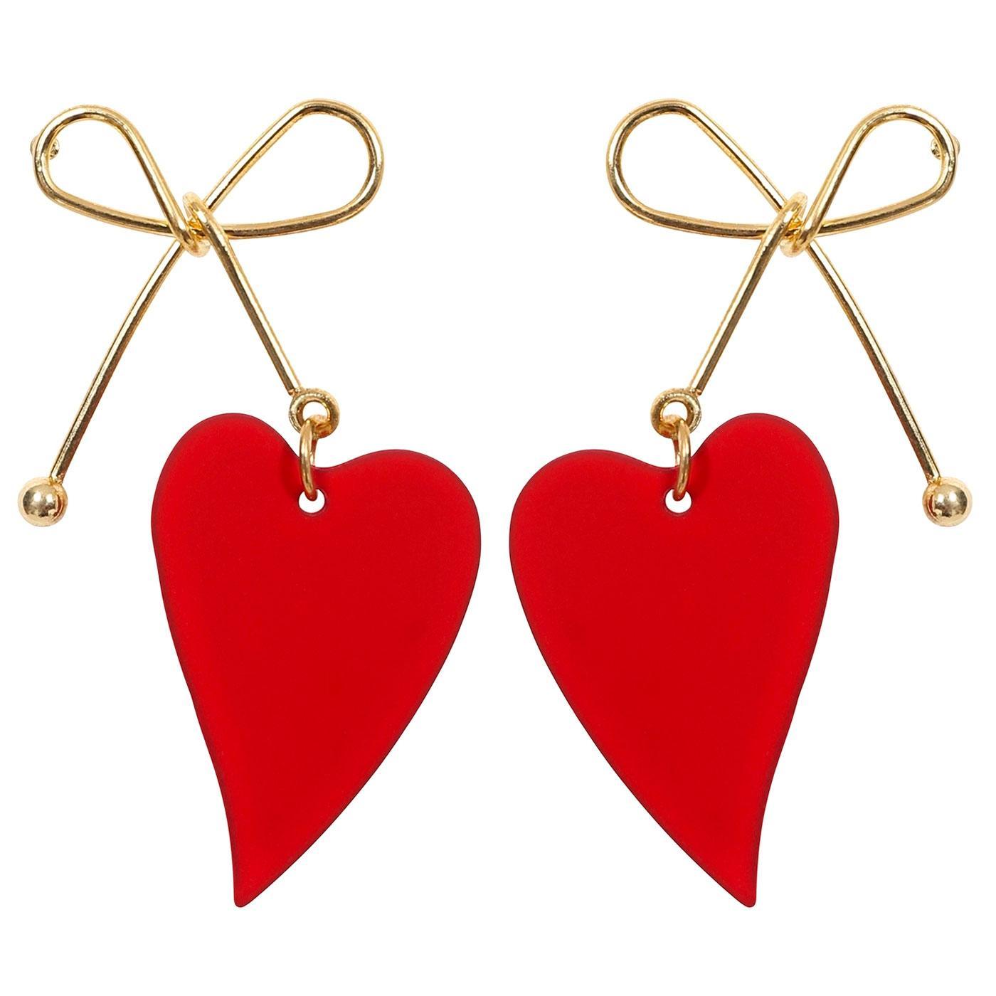 + Pauline COLLECTIF Retro Heart Shaped Earrings