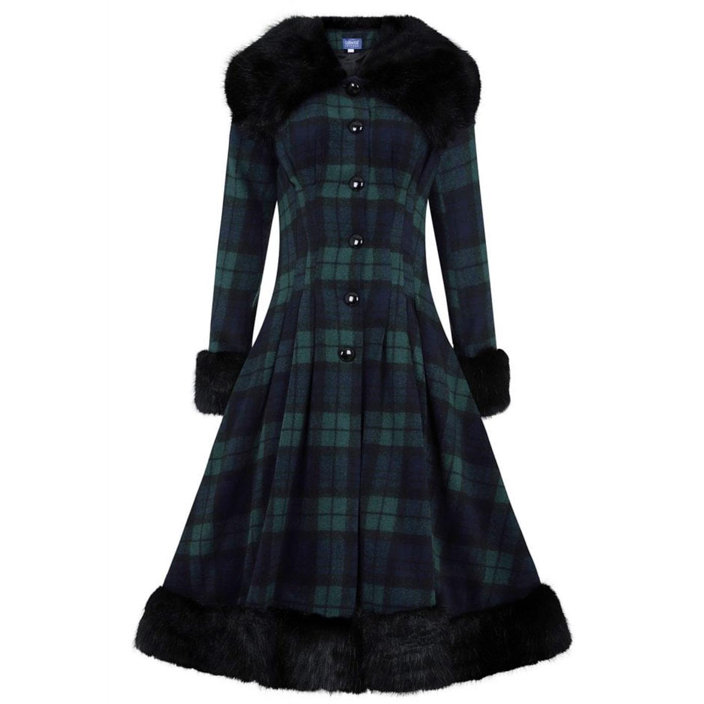 Pearl COLLECTIF Blackwatch Check Vintage Coat