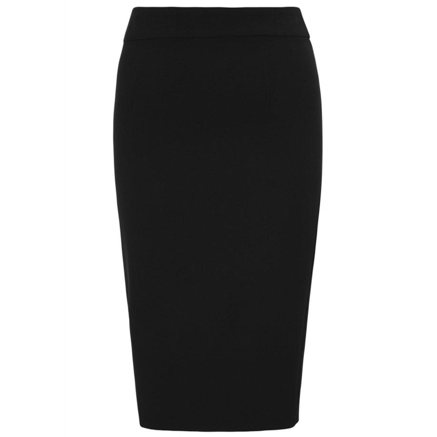 Polly COLLECTIF 50s Vintage Pencil Skirt in Black
